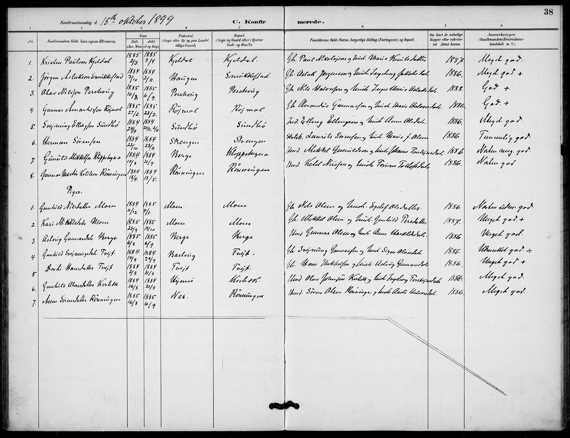 SAKO, Lunde kirkebøker, F/Fb/L0004: Ministerialbok nr. II 4, 1892-1907, s. 38