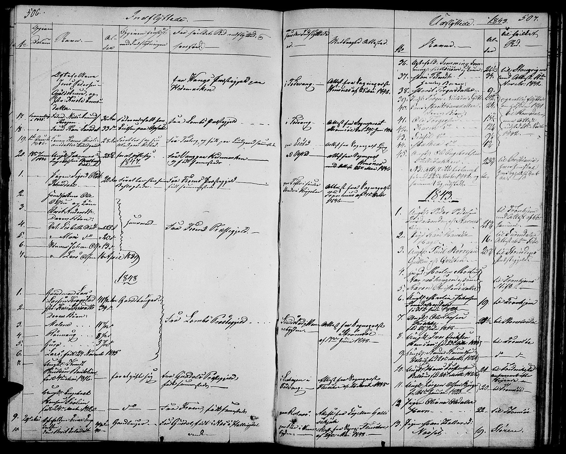 SAH, Ringebu prestekontor, Klokkerbok nr. 2, 1839-1853, s. 506-507