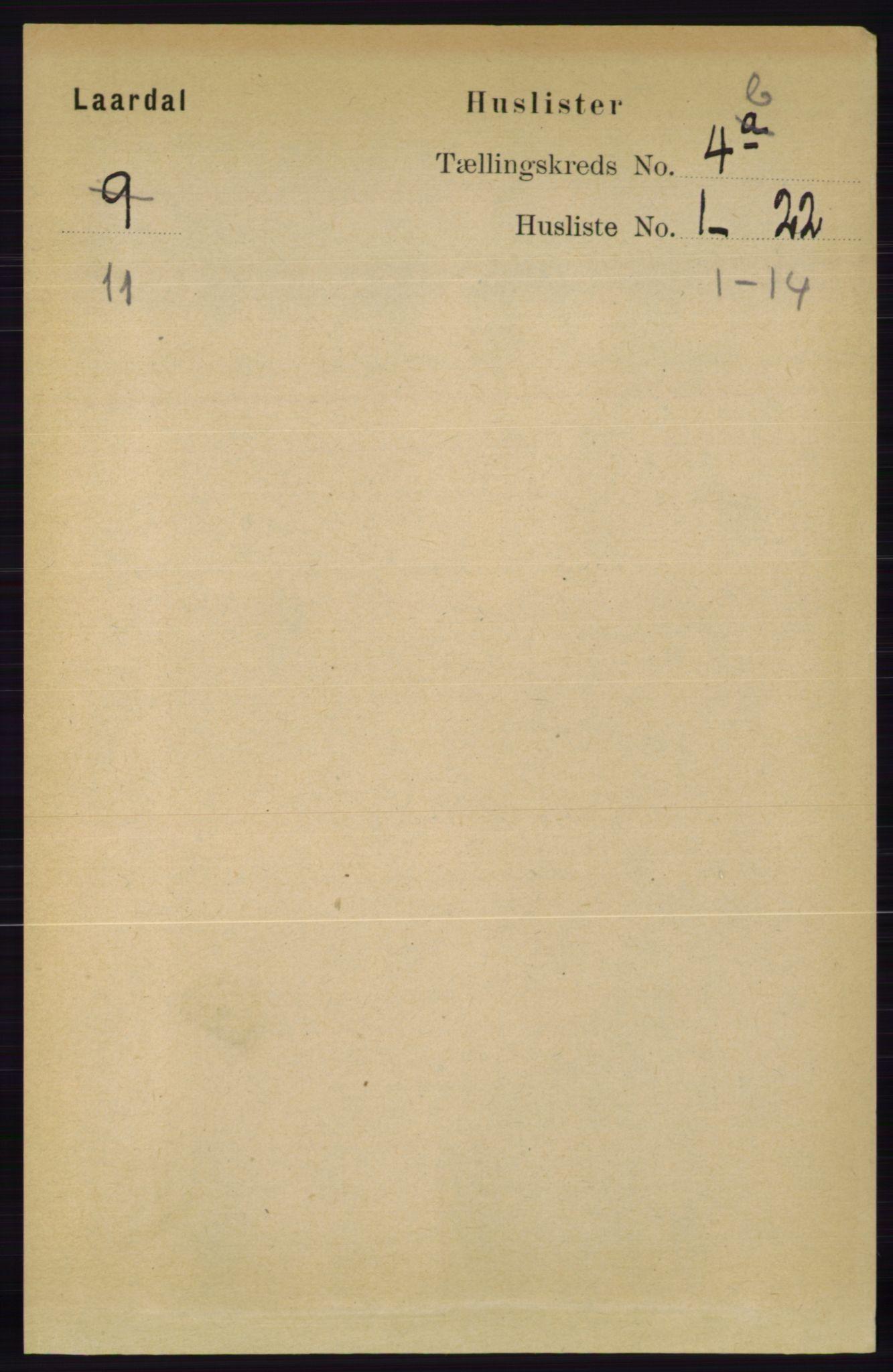 RA, Folketelling 1891 for 0833 Lårdal herred, 1891, s. 1157