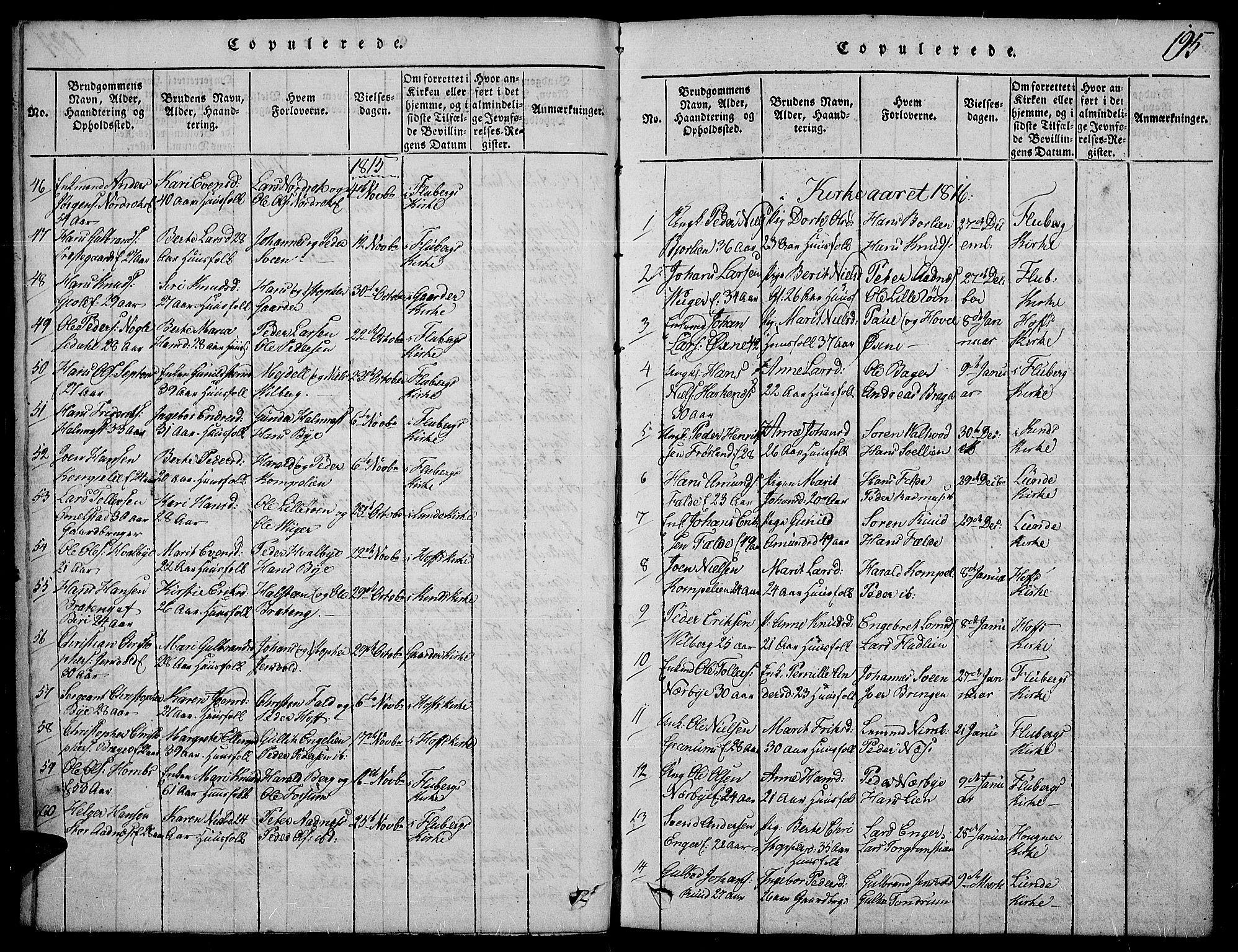 SAH, Land prestekontor, Ministerialbok nr. 7, 1814-1830, s. 195