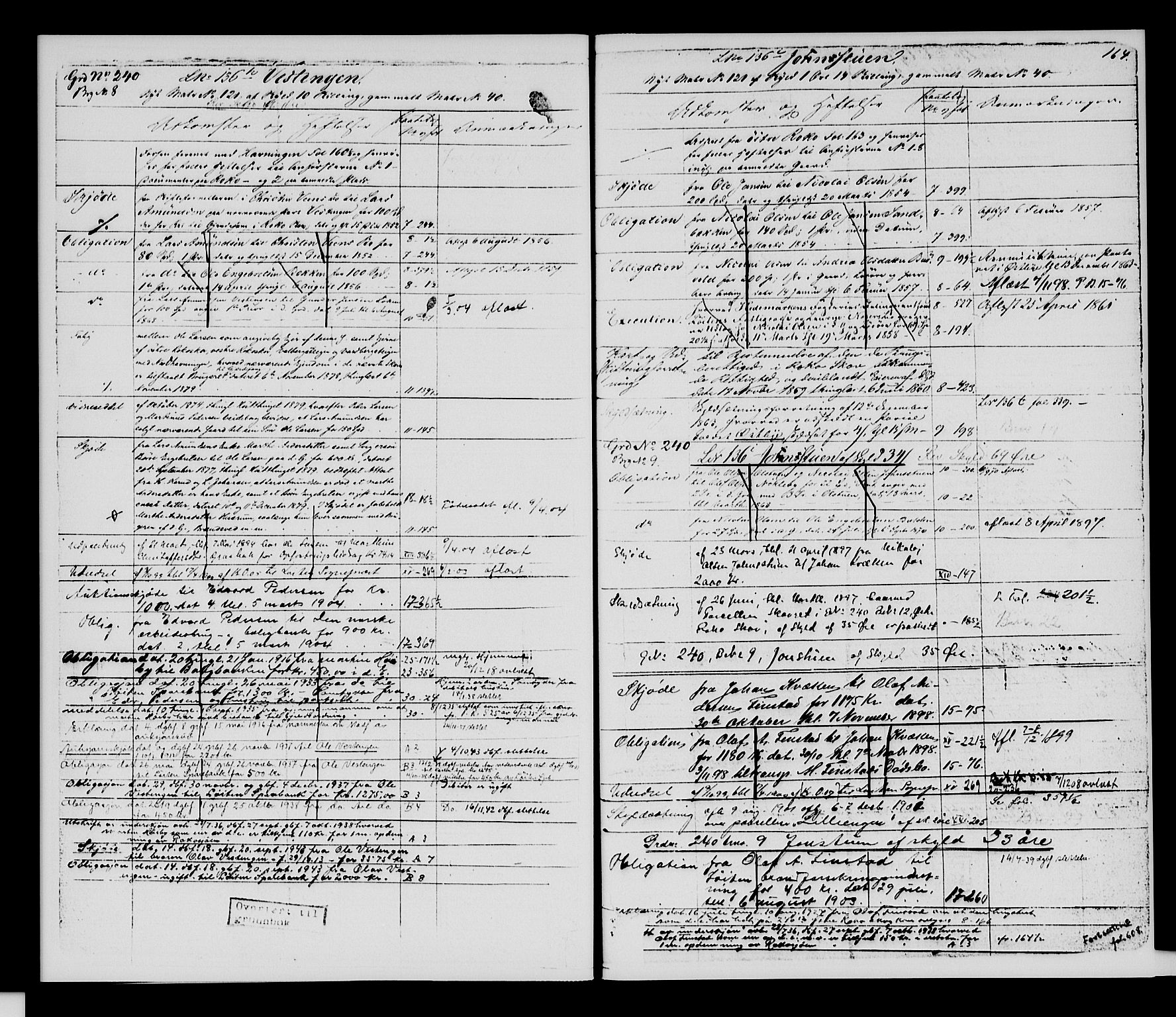 SAH, Sør-Hedmark sorenskriveri, H/Ha/Hac/Hacc/L0001: Panteregister nr. 3.1, 1855-1943, s. 164