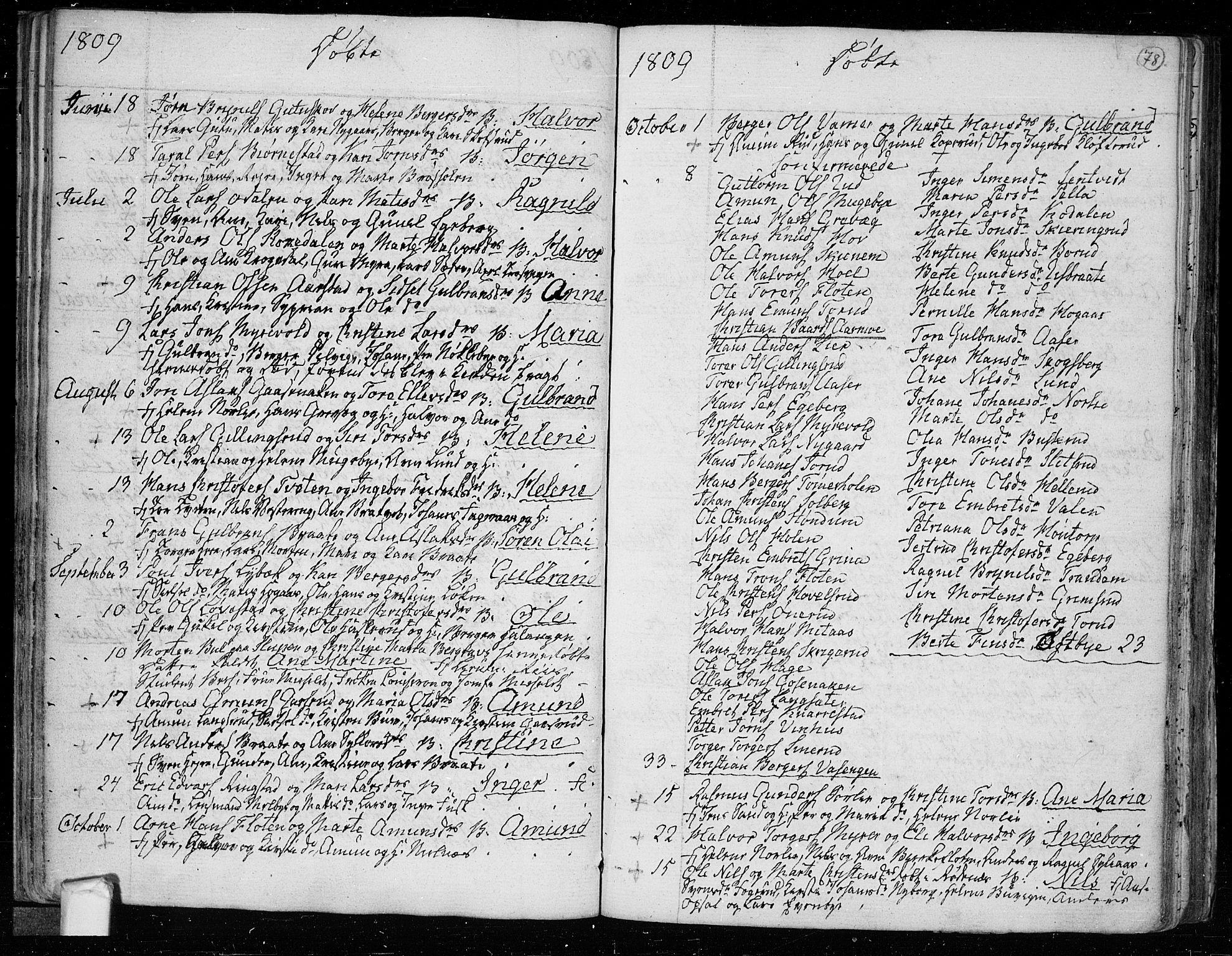 SAO, Trøgstad prestekontor Kirkebøker, F/Fa/L0005: Ministerialbok nr. I 5, 1784-1814, s. 78