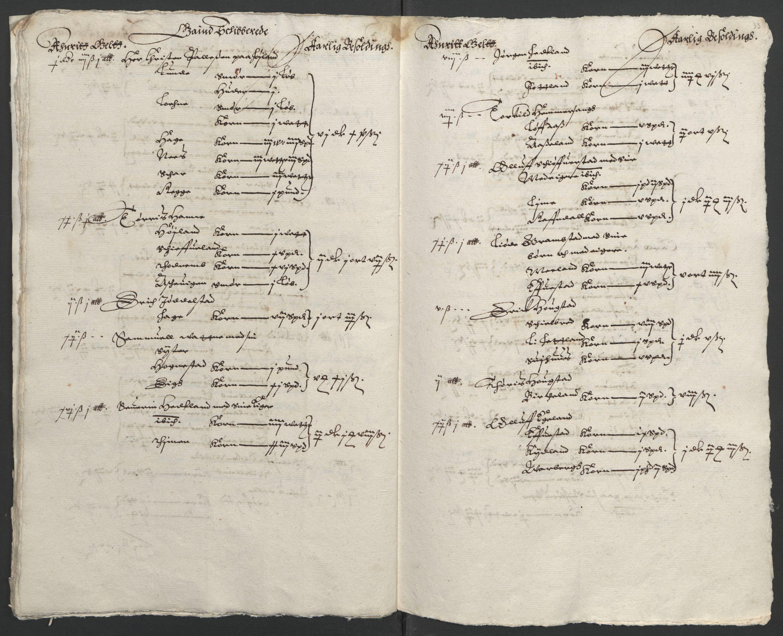 RA, Stattholderembetet 1572-1771, Ek/L0010: Jordebøker til utlikning av rosstjeneste 1624-1626:, 1624-1626, s. 127