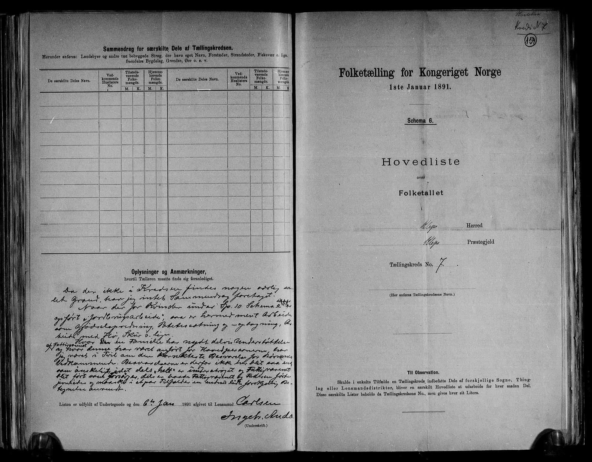RA, Folketelling 1891 for 1120 Klepp herred, 1891, s. 18