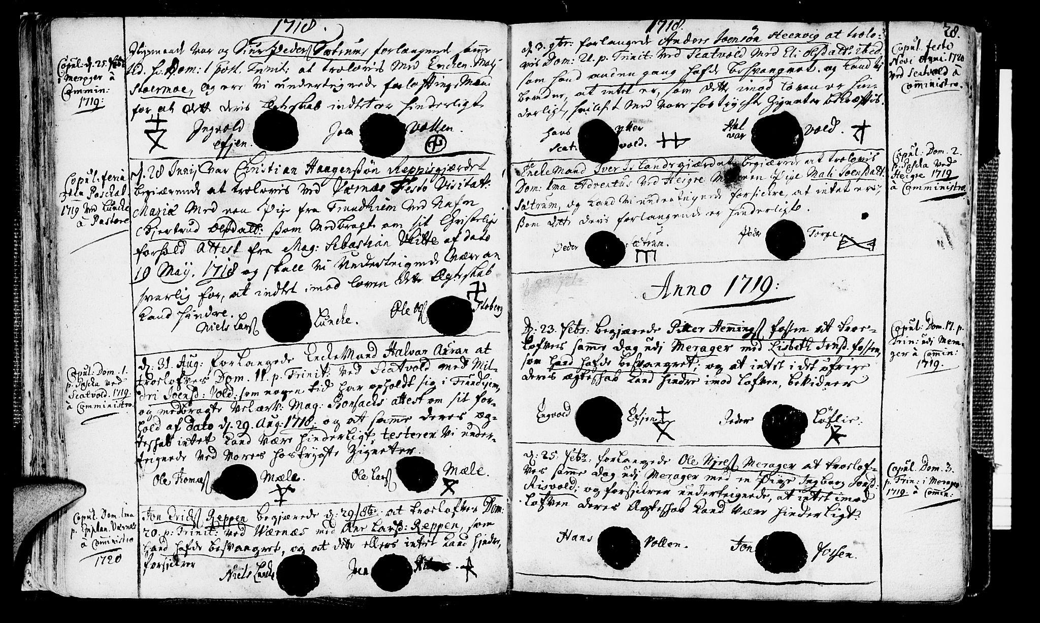 SAT, Ministerialprotokoller, klokkerbøker og fødselsregistre - Nord-Trøndelag, 709/L0053: Ministerialbok nr. 709A01, 1714-1729, s. 28