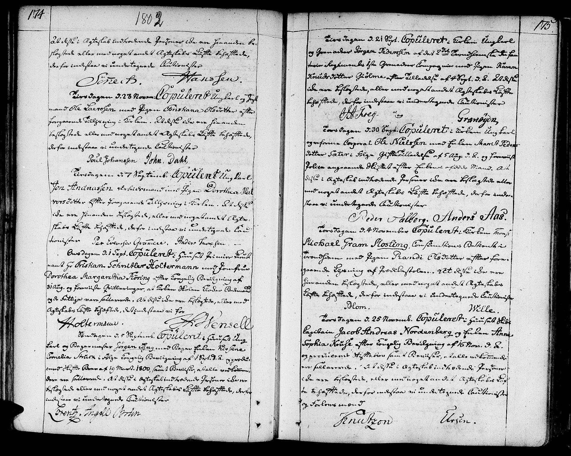 SAT, Ministerialprotokoller, klokkerbøker og fødselsregistre - Sør-Trøndelag, 602/L0105: Ministerialbok nr. 602A03, 1774-1814, s. 174-175