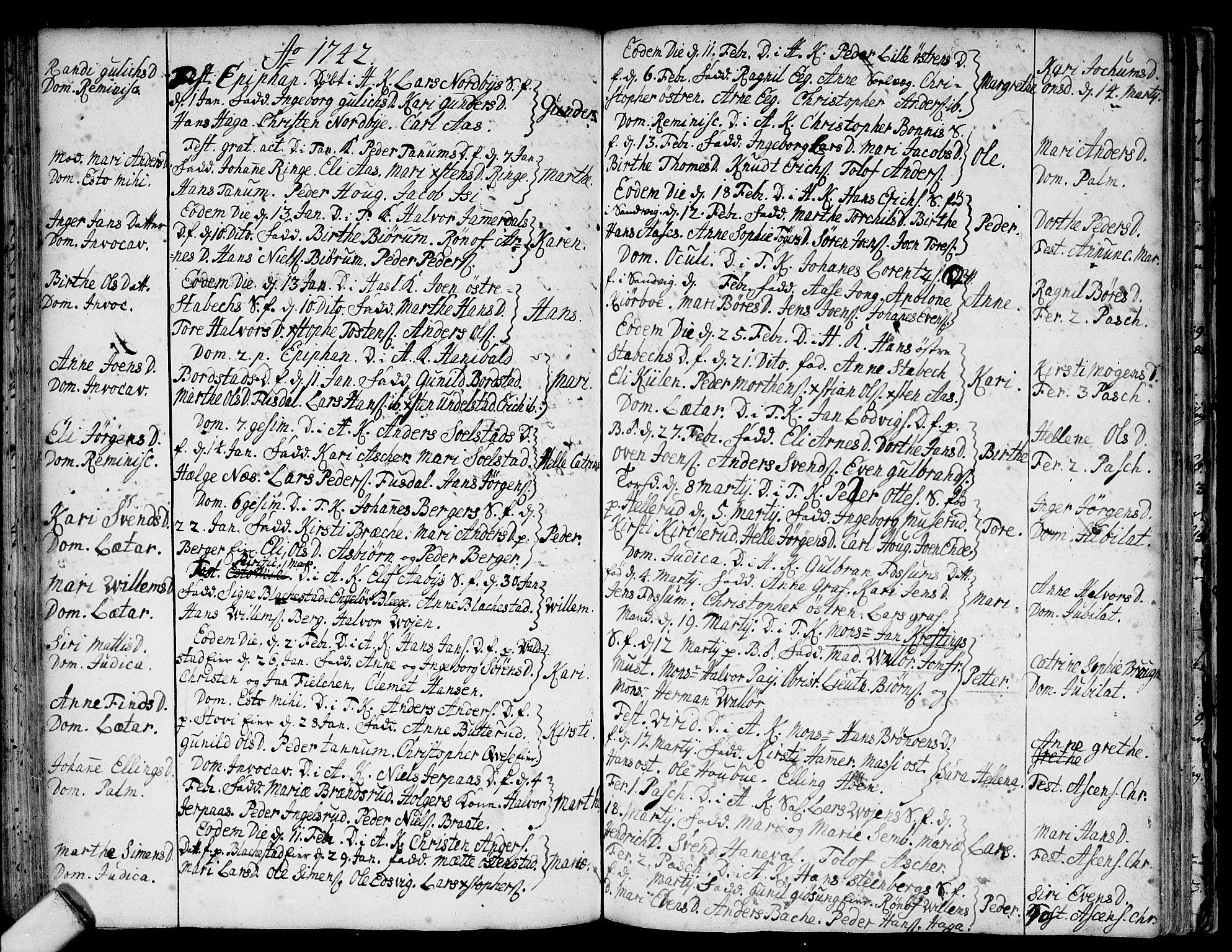 SAO, Asker prestekontor Kirkebøker, F/Fa/L0001: Ministerialbok nr. I 1, 1726-1744, s. 75