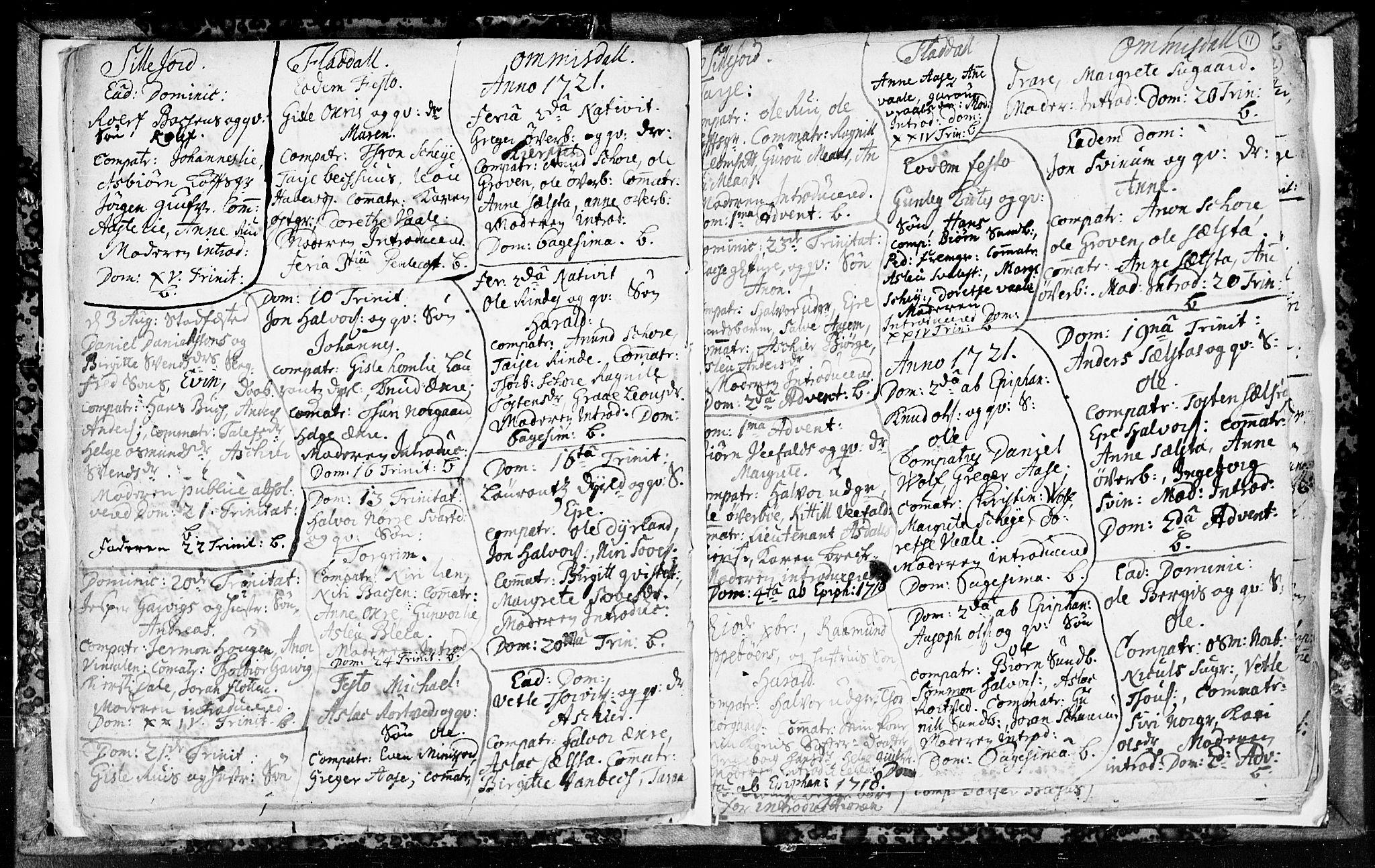 SAKO, Seljord kirkebøker, F/Fa/L0003: Ministerialbok nr. I 3, 1714-1725, s. 11
