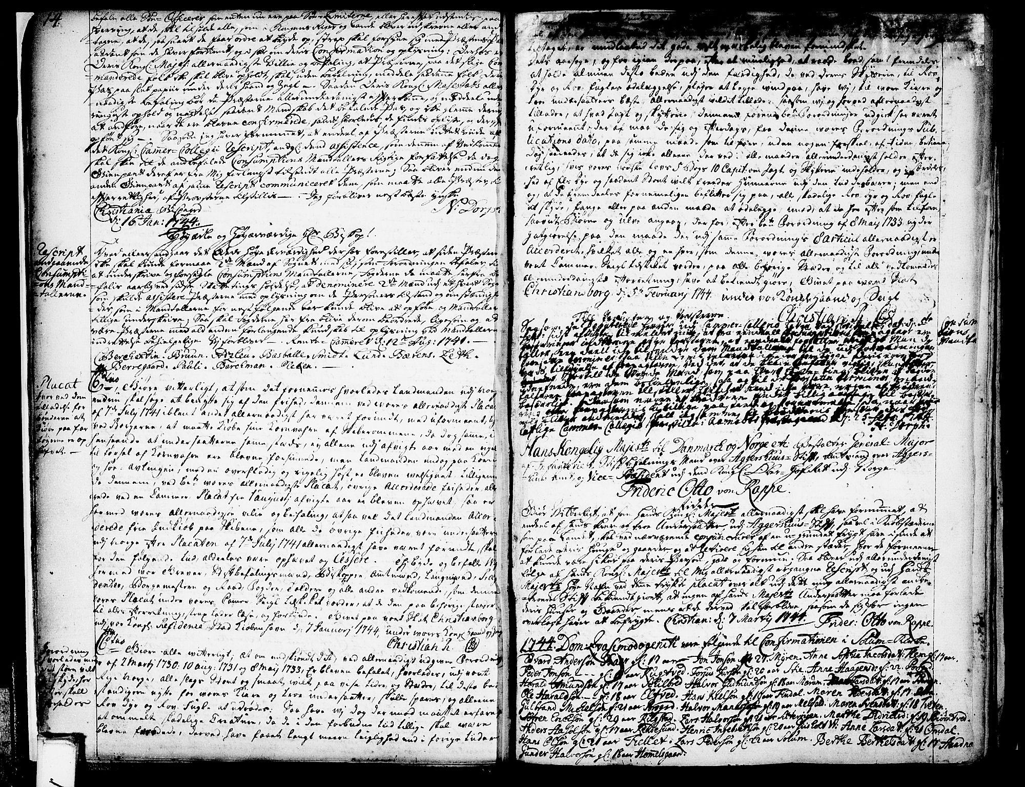 SAKO, Solum sokneprestkontor, A/Aa/L0002: Annen kirkebok nr. 2, 1743-1791, s. 14-15