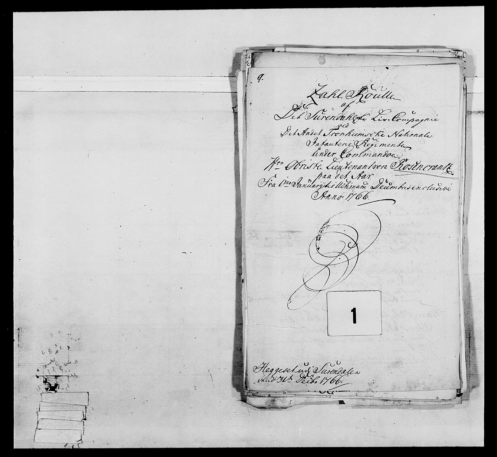 RA, Generalitets- og kommissariatskollegiet, Det kongelige norske kommissariatskollegium, E/Eh/L0076: 2. Trondheimske nasjonale infanteriregiment, 1766-1773, s. 11