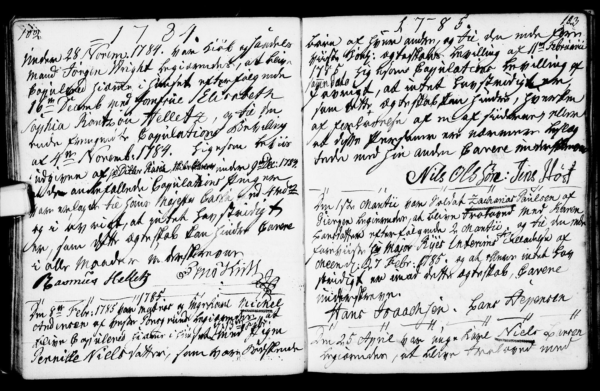 SAKO, Porsgrunn kirkebøker , F/Fa/L0003: Ministerialbok nr. 3, 1764-1814, s. 102-103