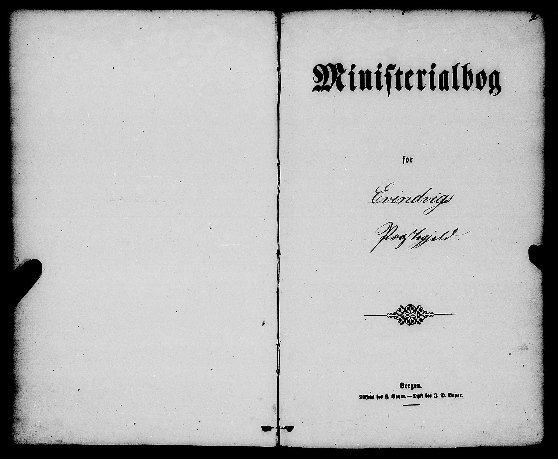 SAB, Gulen Sokneprestembete, Ministerialbok nr. A 22, 1859-1869, s. 2