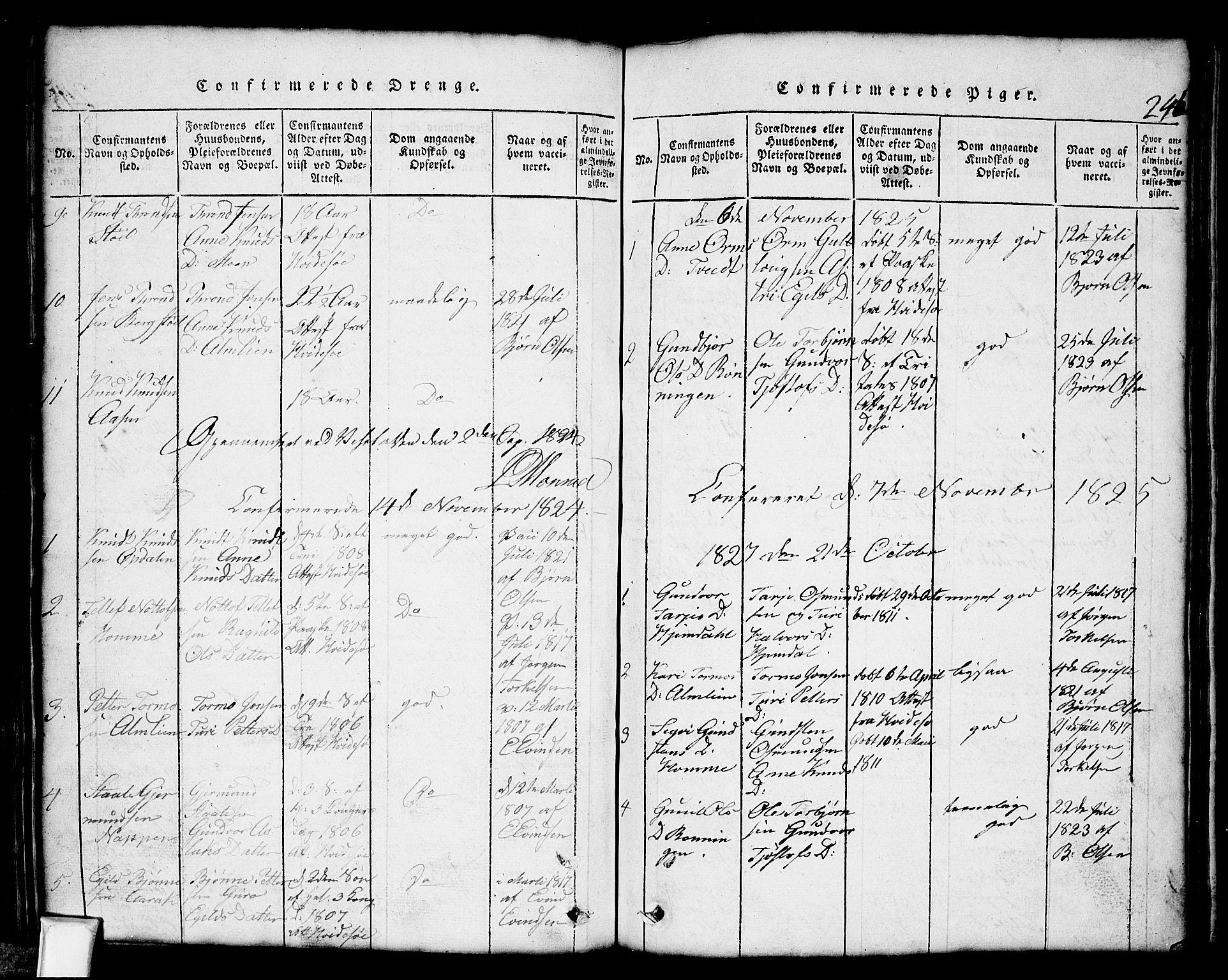 SAKO, Nissedal kirkebøker, G/Gb/L0001: Klokkerbok nr. II 1, 1814-1862, s. 246