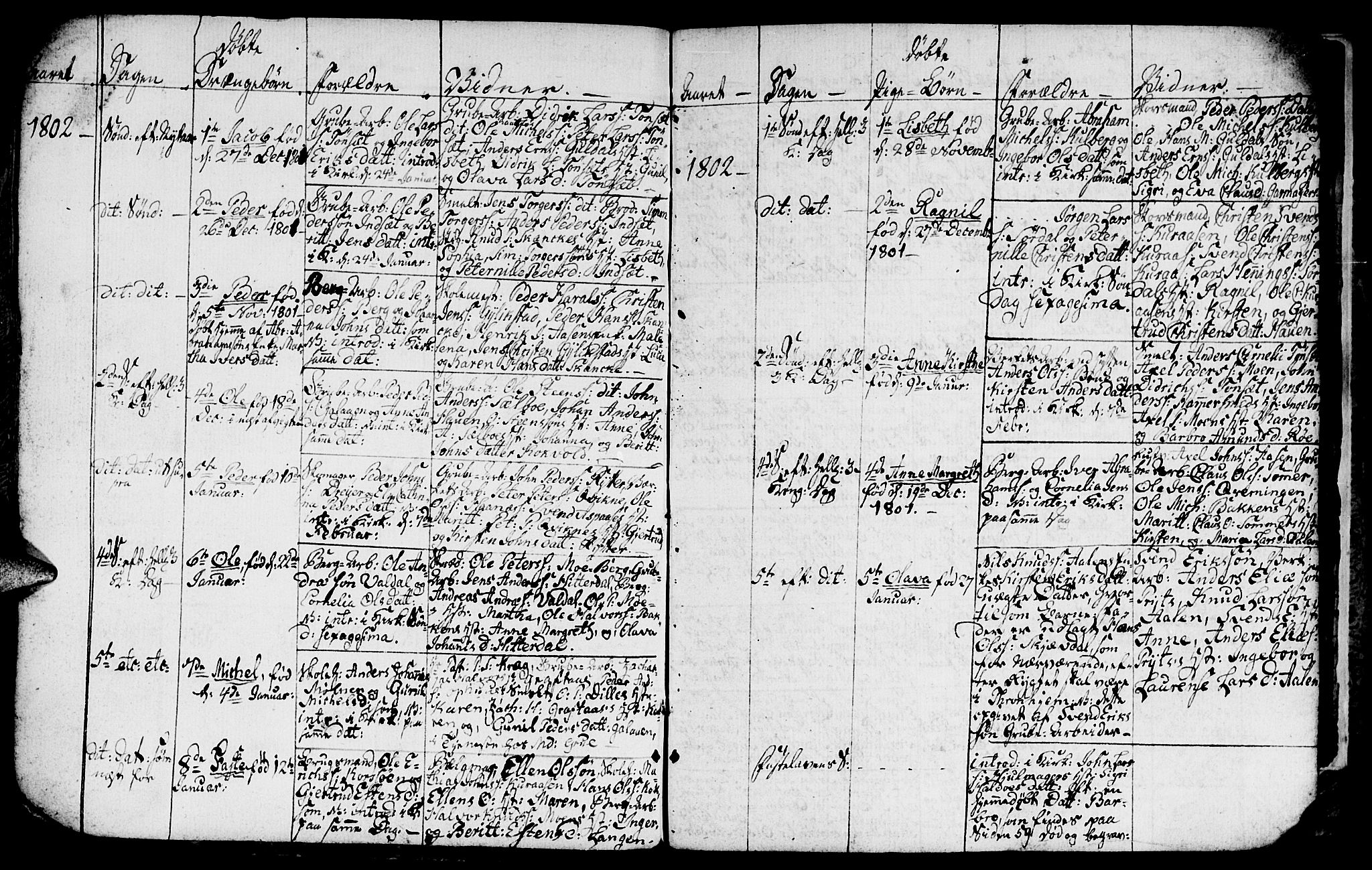 SAT, Ministerialprotokoller, klokkerbøker og fødselsregistre - Sør-Trøndelag, 681/L0937: Klokkerbok nr. 681C01, 1798-1810, s. 12-13