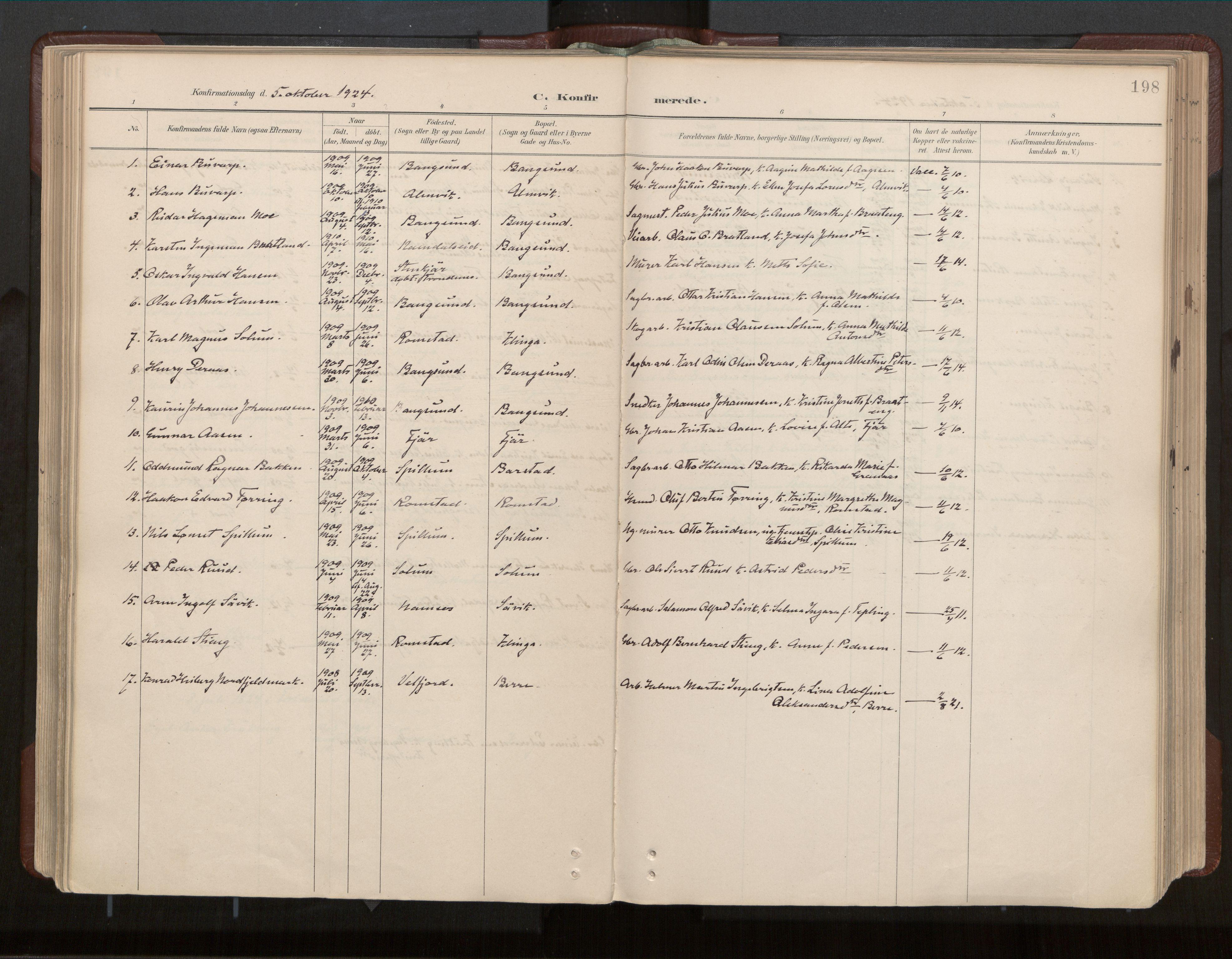 SAT, Ministerialprotokoller, klokkerbøker og fødselsregistre - Nord-Trøndelag, 770/L0589: Ministerialbok nr. 770A03, 1887-1929, s. 198