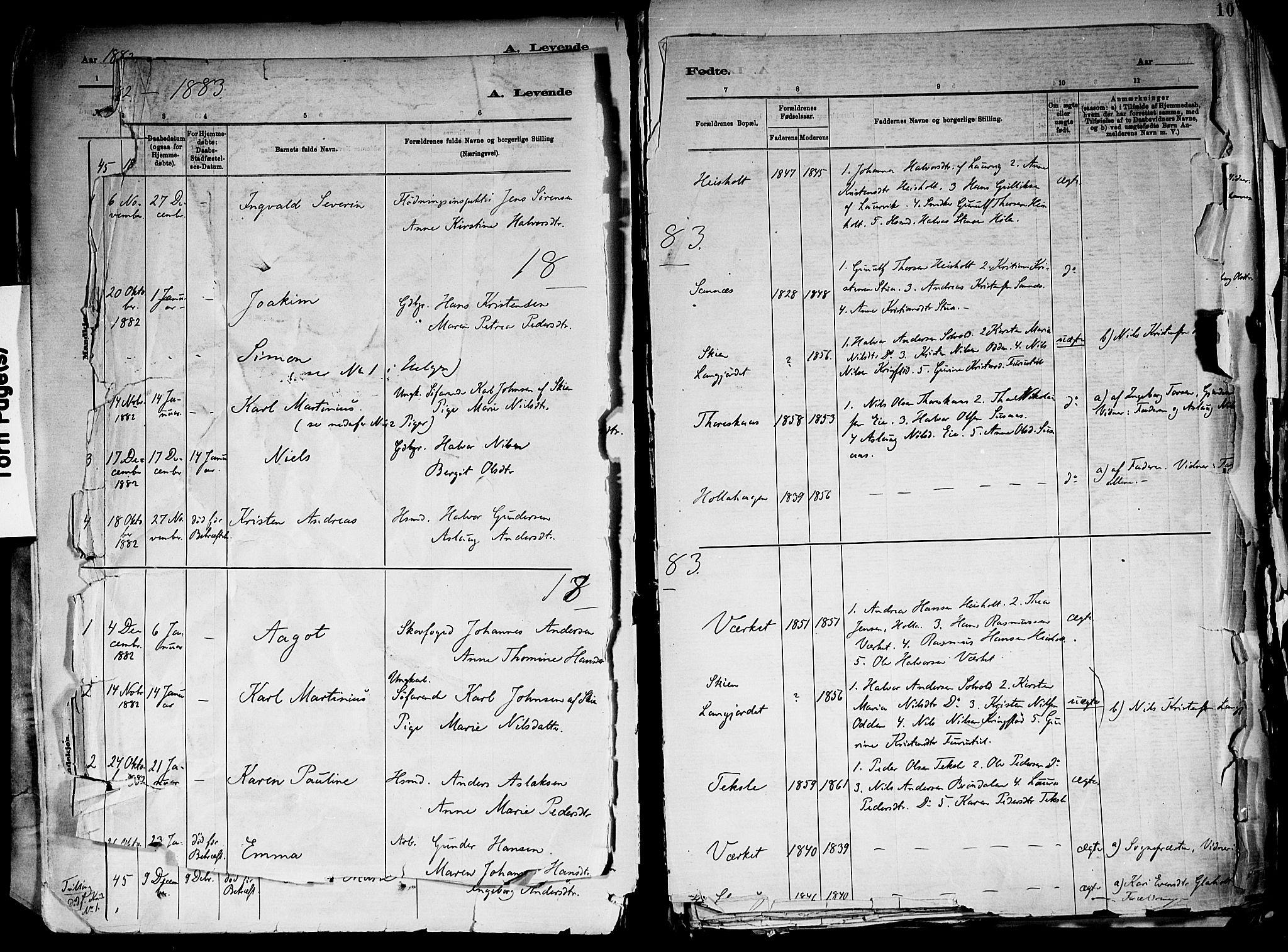 SAKO, Holla kirkebøker, F/Fa/L0008: Ministerialbok nr. 8, 1882-1897, s. 9
