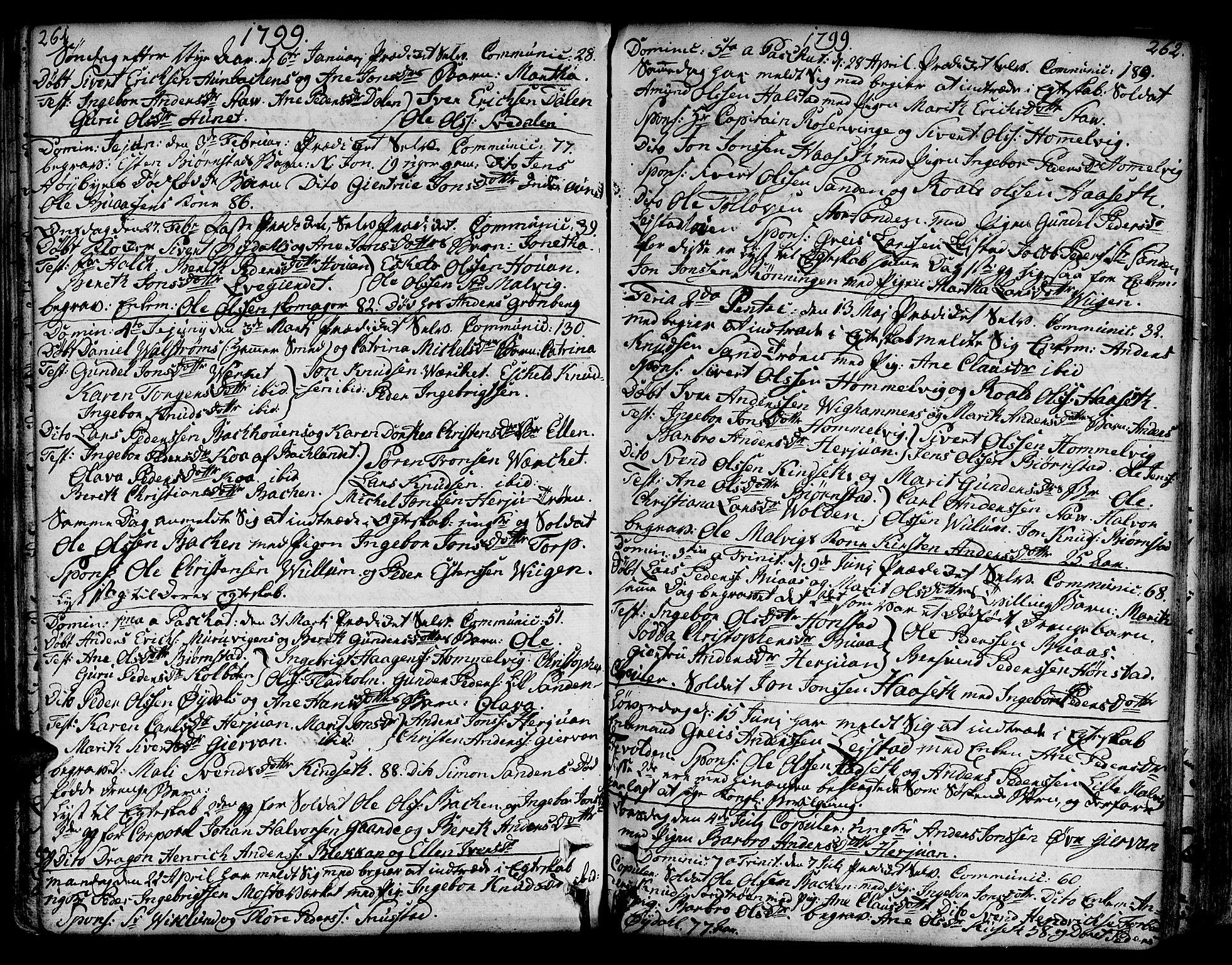 SAT, Ministerialprotokoller, klokkerbøker og fødselsregistre - Sør-Trøndelag, 606/L0281: Ministerialbok nr. 606A02 /2, 1781-1817, s. 261-262