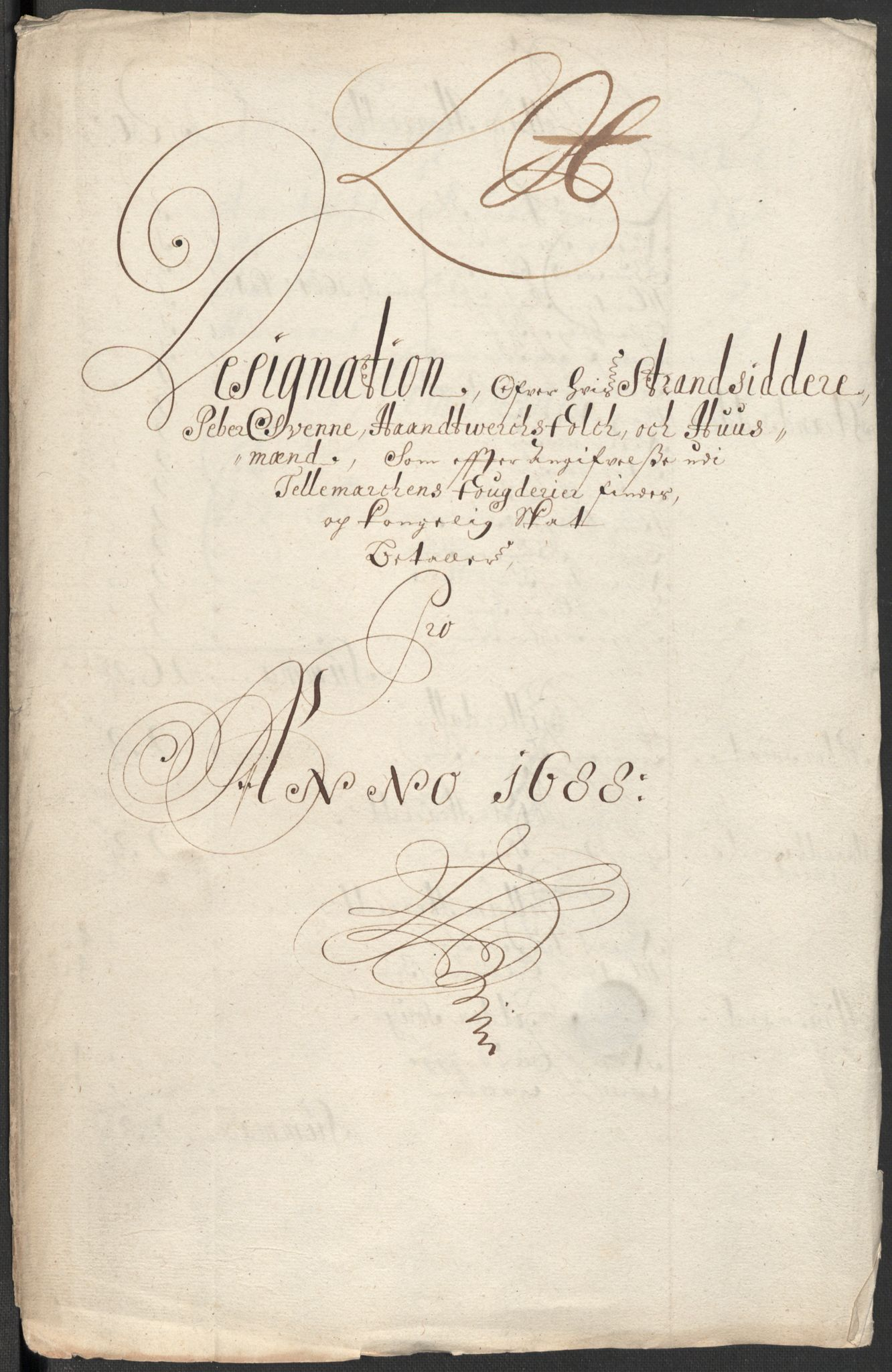 RA, Rentekammeret inntil 1814, Reviderte regnskaper, Fogderegnskap, R35/L2087: Fogderegnskap Øvre og Nedre Telemark, 1687-1689, s. 329