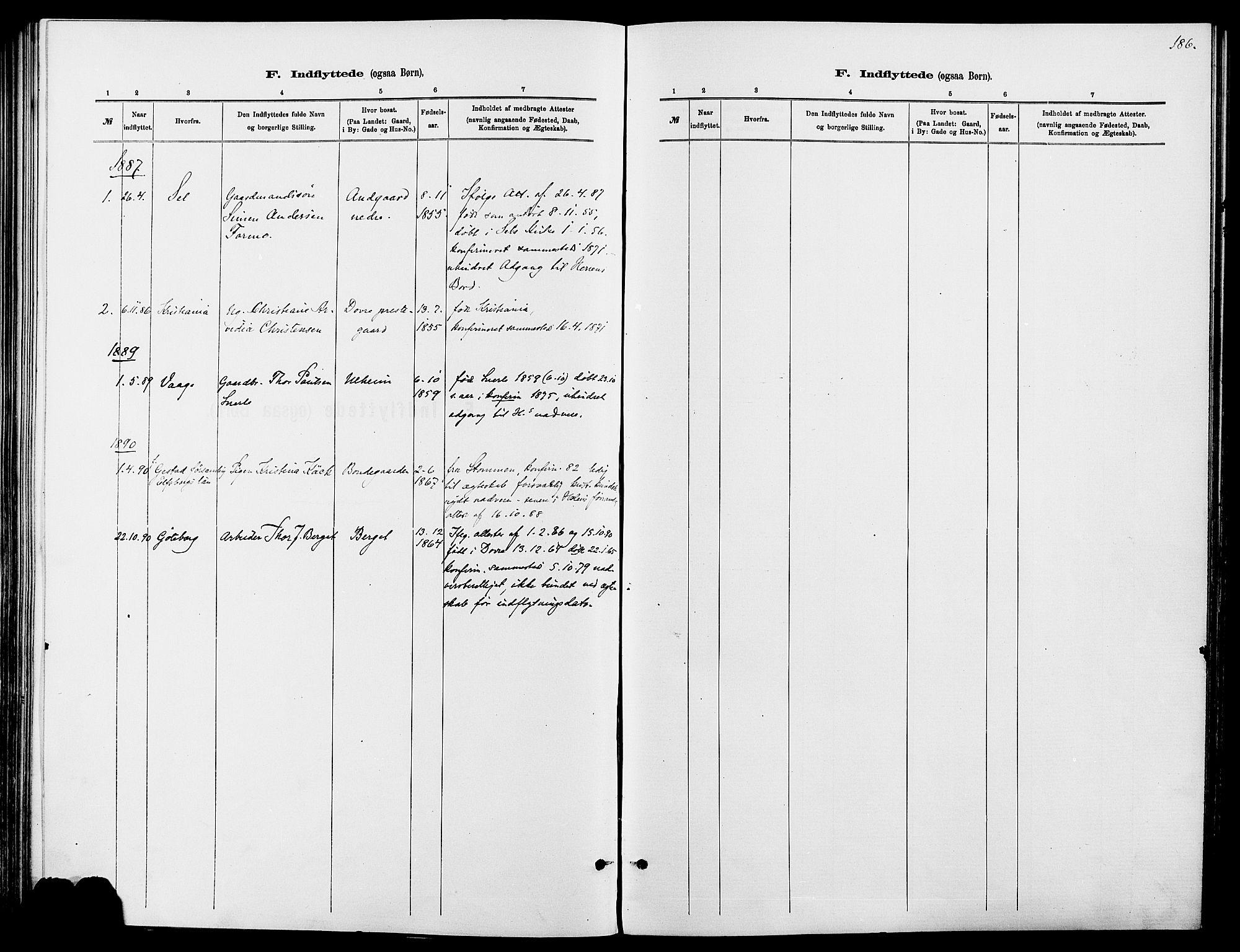 SAH, Dovre prestekontor, Ministerialbok nr. 2, 1879-1890, s. 186