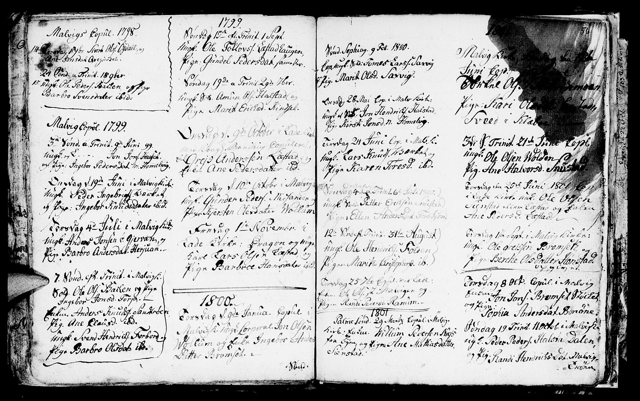 SAT, Ministerialprotokoller, klokkerbøker og fødselsregistre - Sør-Trøndelag, 616/L0419: Klokkerbok nr. 616C02, 1797-1816, s. 56