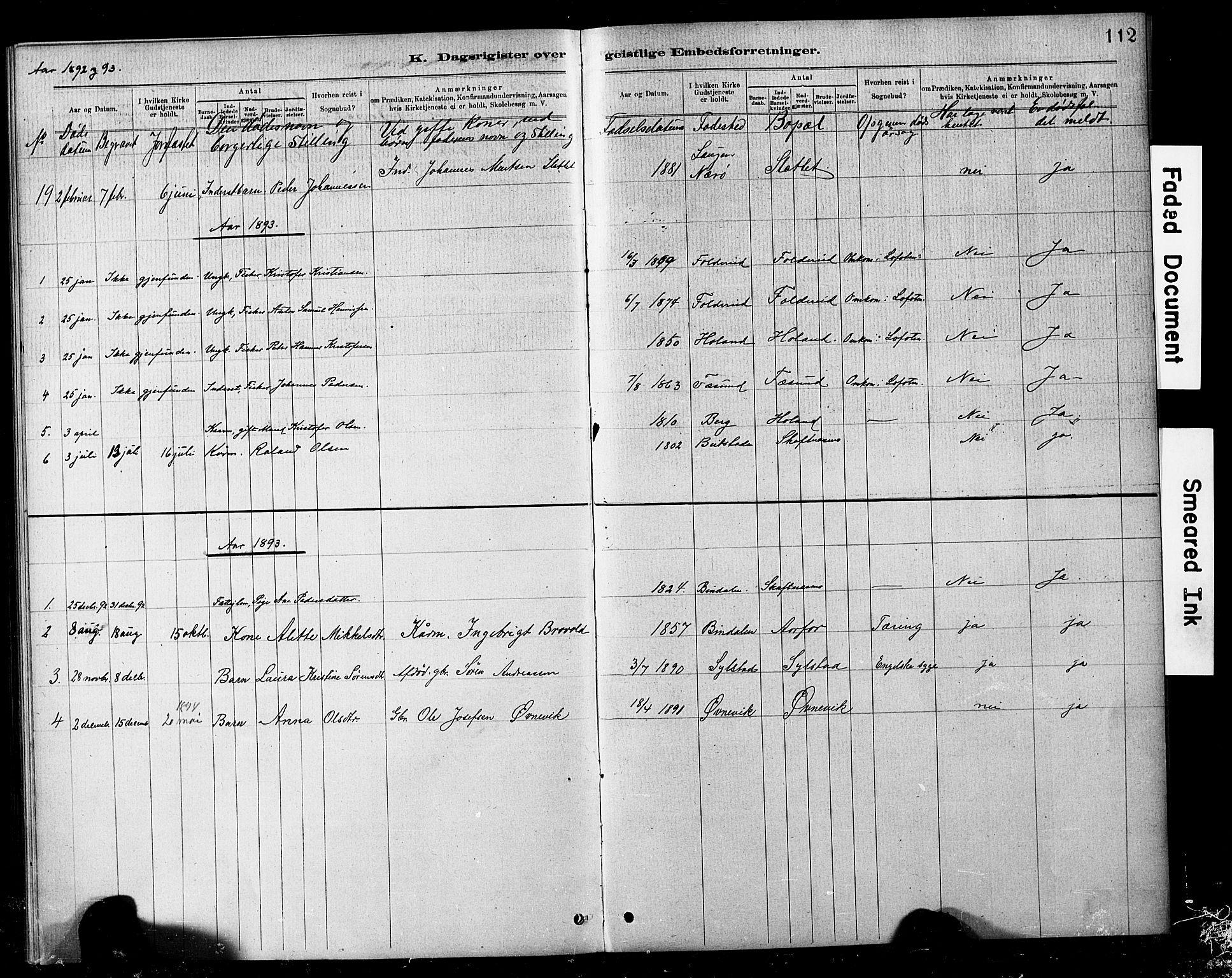 SAT, Ministerialprotokoller, klokkerbøker og fødselsregistre - Nord-Trøndelag, 783/L0661: Klokkerbok nr. 783C01, 1878-1893, s. 112