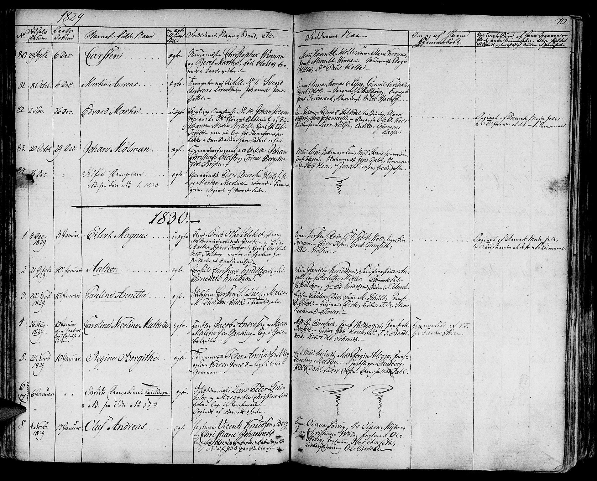 SAT, Ministerialprotokoller, klokkerbøker og fødselsregistre - Sør-Trøndelag, 602/L0108: Ministerialbok nr. 602A06, 1821-1839, s. 70