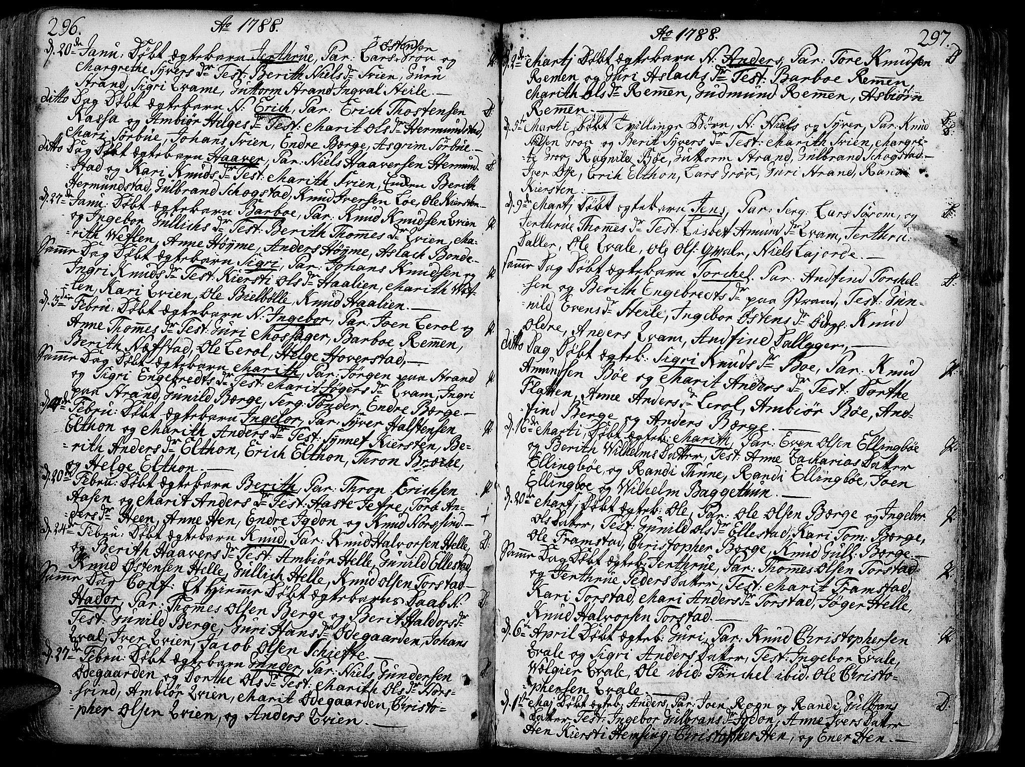SAH, Vang prestekontor, Valdres, Ministerialbok nr. 1, 1730-1796, s. 296-297