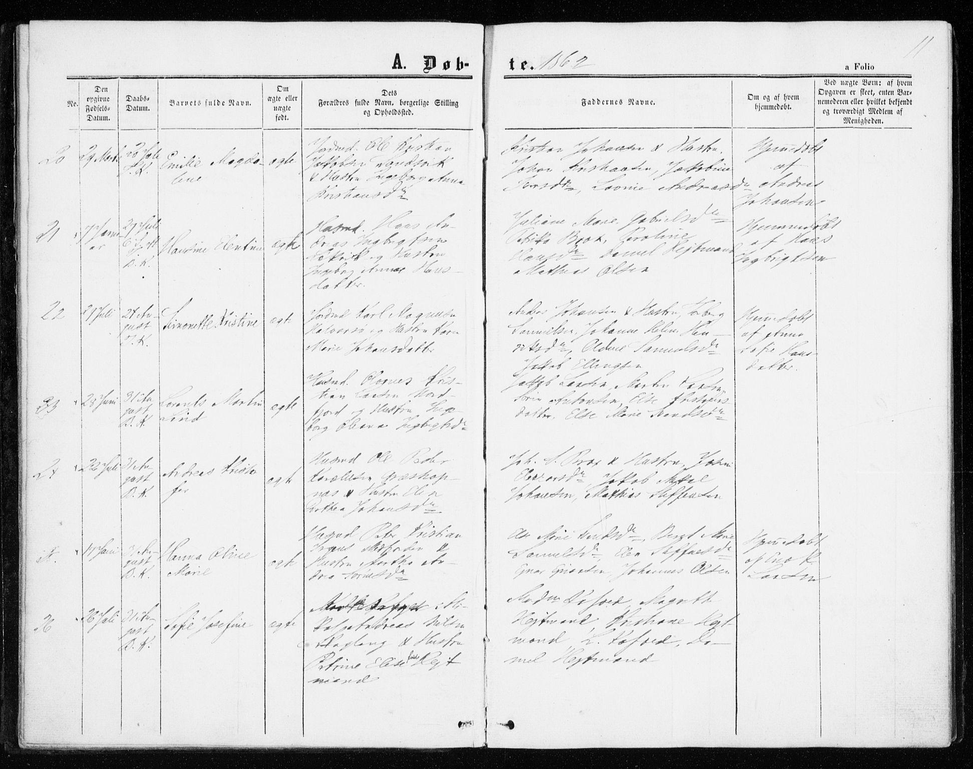 SATØ, Mefjord/Berg sokneprestkontor, G/Ga/Gaa/L0002kirke: Ministerialbok nr. 2, 1860-1872, s. 11