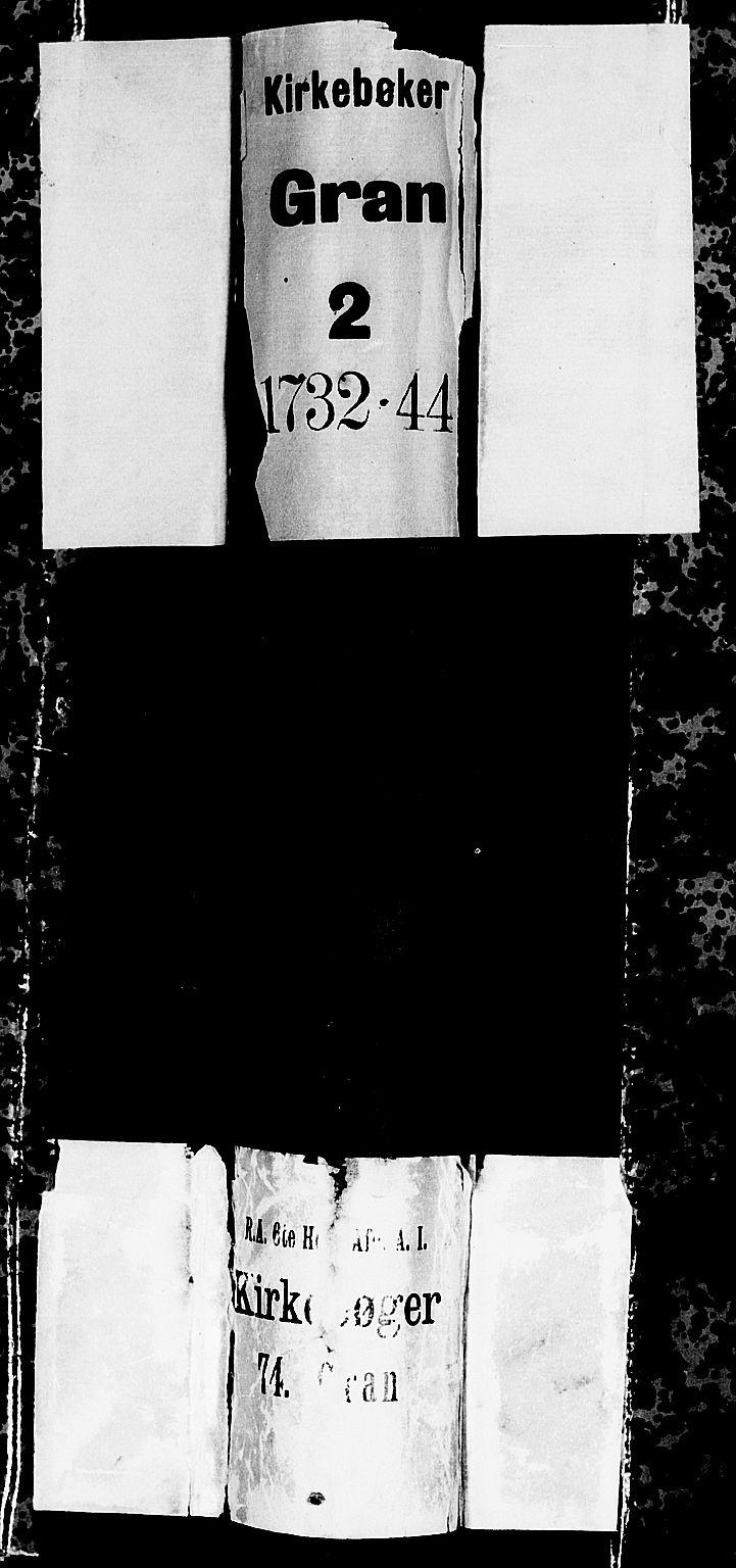 SAH, Gran prestekontor, Ministerialbok nr. 2, 1732-1744