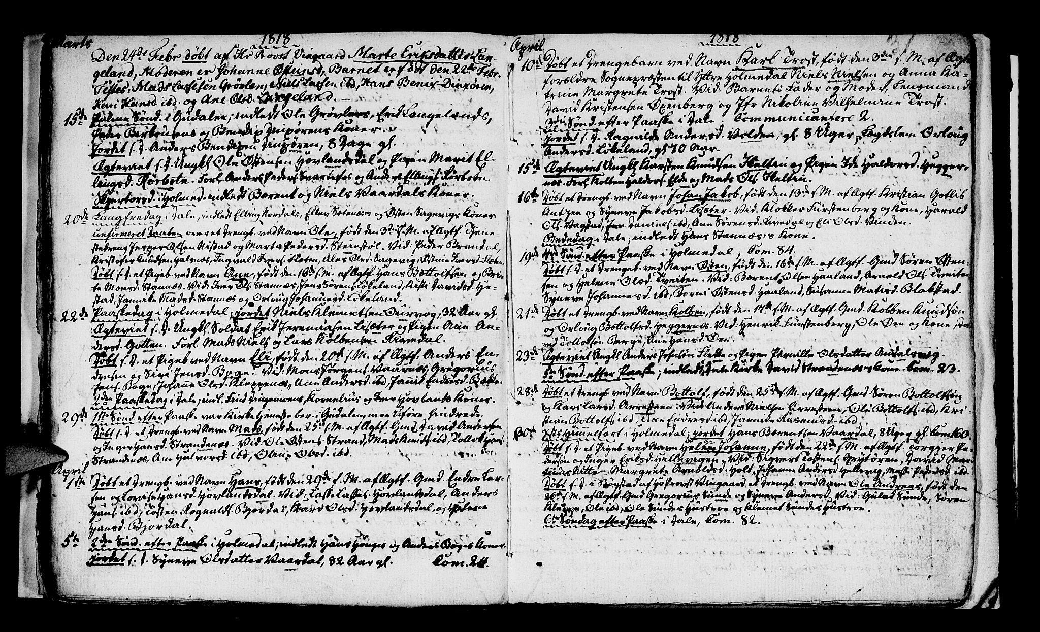 SAB, Fjaler sokneprestembete, H/Haa: Ministerialbok nr. A 4, 1814-1821, s. 31