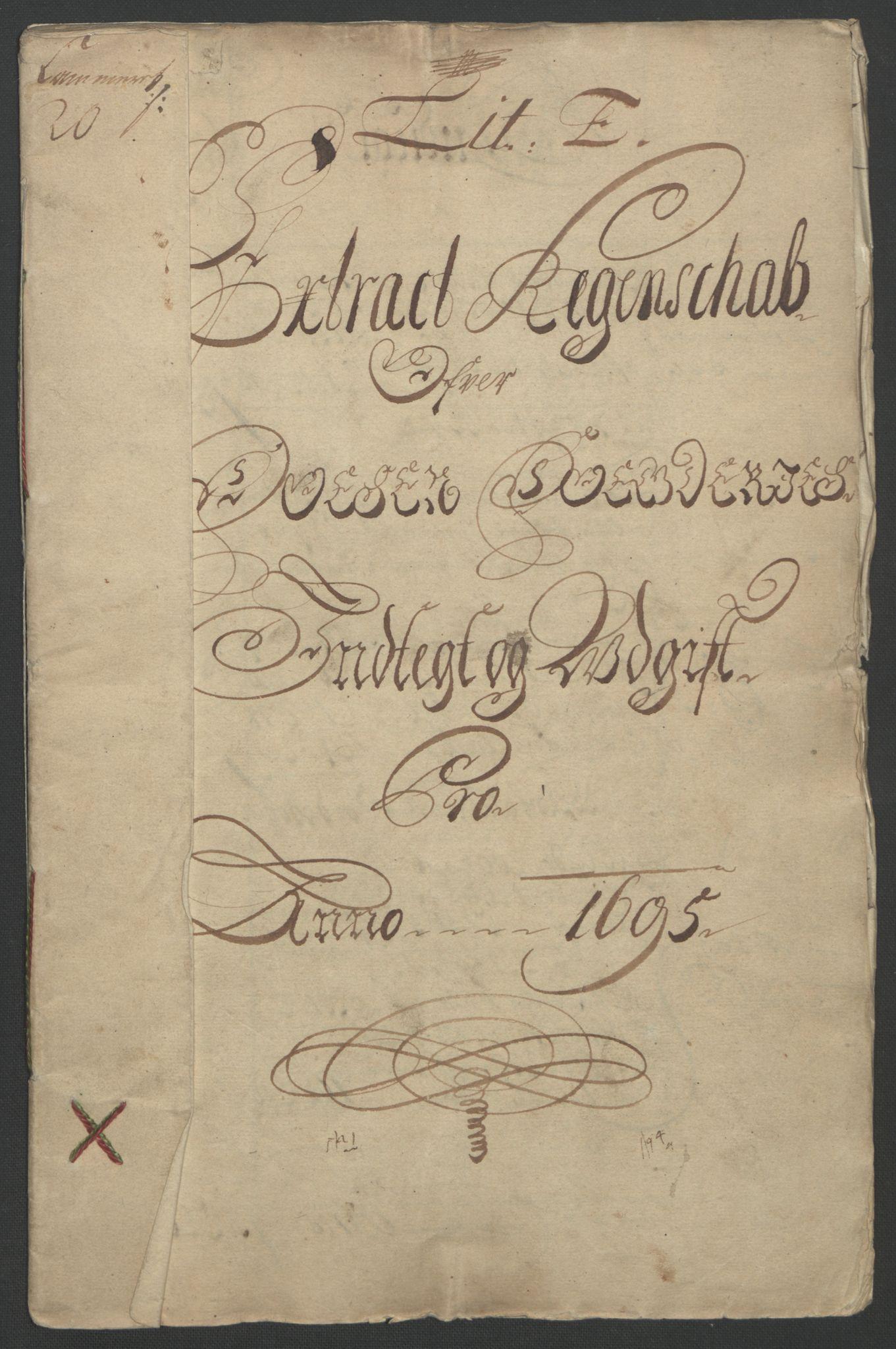 RA, Rentekammeret inntil 1814, Reviderte regnskaper, Fogderegnskap, R57/L3851: Fogderegnskap Fosen, 1695-1696, s. 3