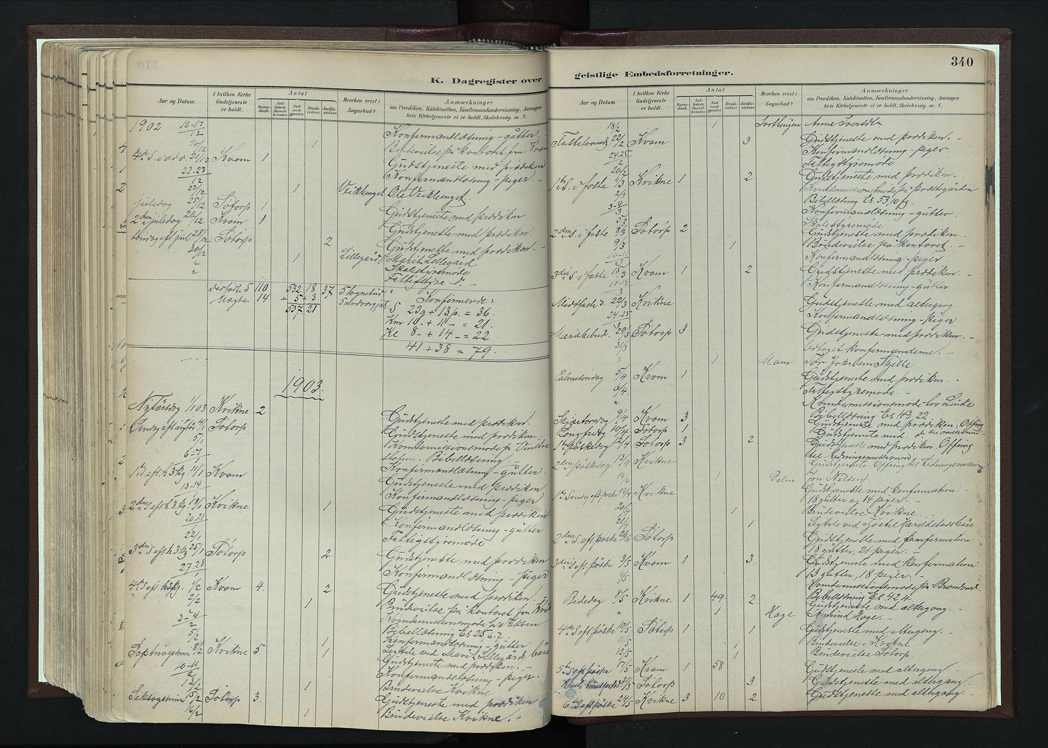 SAH, Nord-Fron prestekontor, Ministerialbok nr. 4, 1884-1914, s. 340