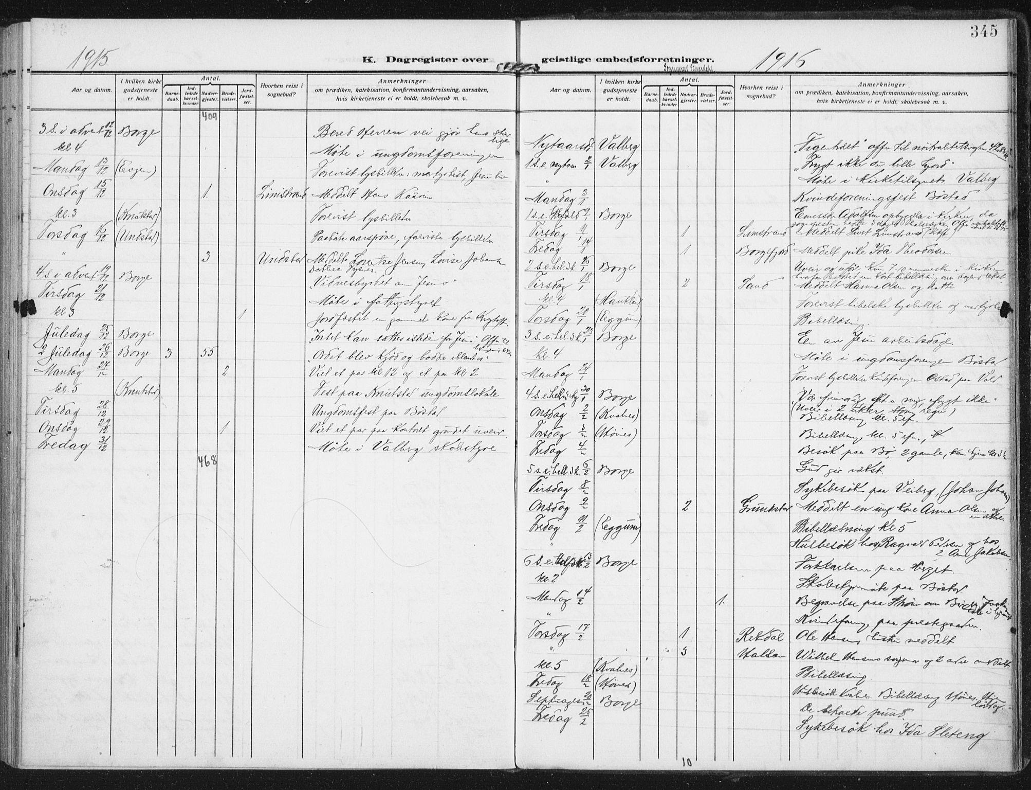 SAT, Ministerialprotokoller, klokkerbøker og fødselsregistre - Nordland, 880/L1135: Ministerialbok nr. 880A09, 1908-1919, s. 345