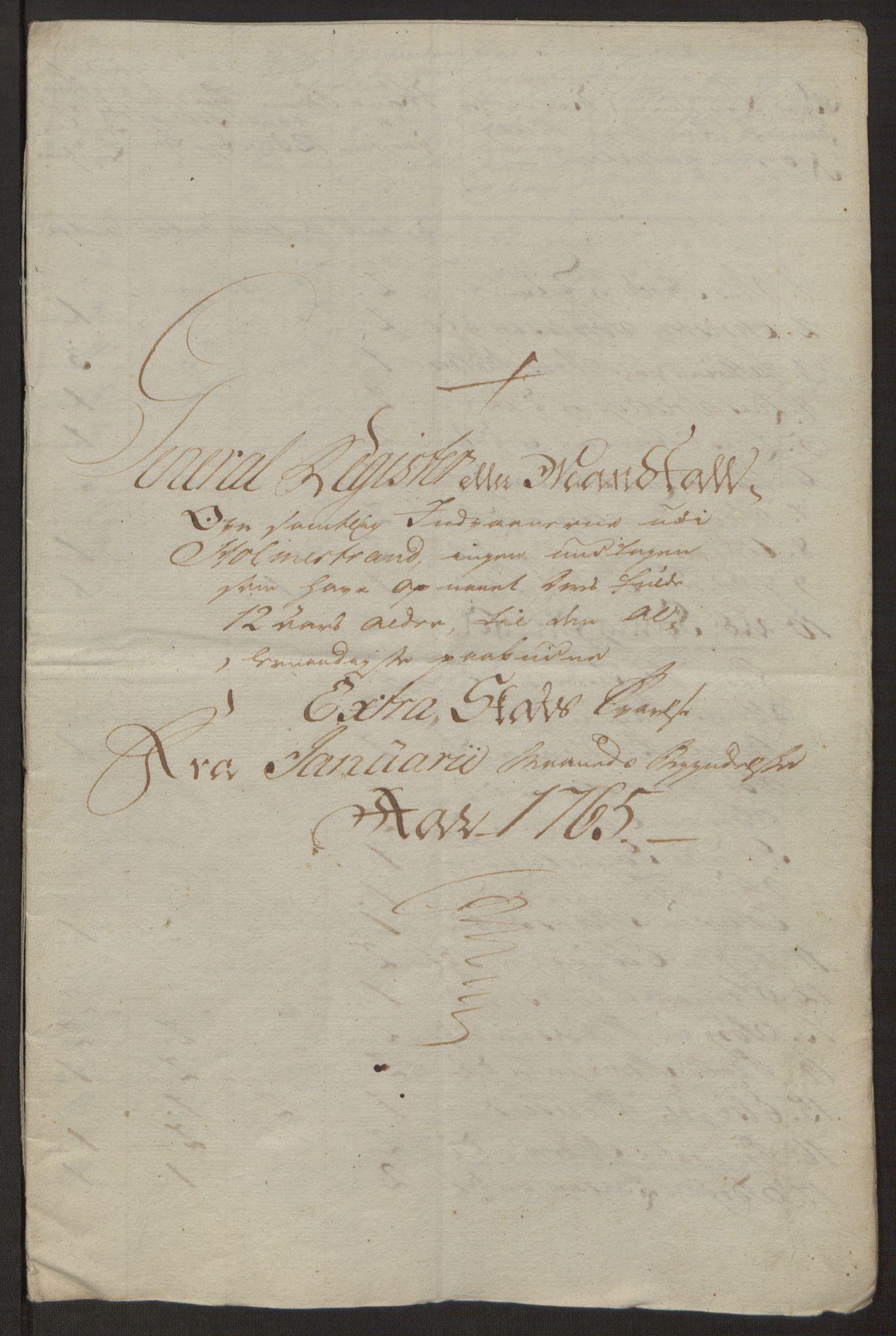 RA, Rentekammeret inntil 1814, Reviderte regnskaper, Byregnskaper, R/Rh/L0163: [H4] Kontribusjonsregnskap, 1762-1772, s. 192