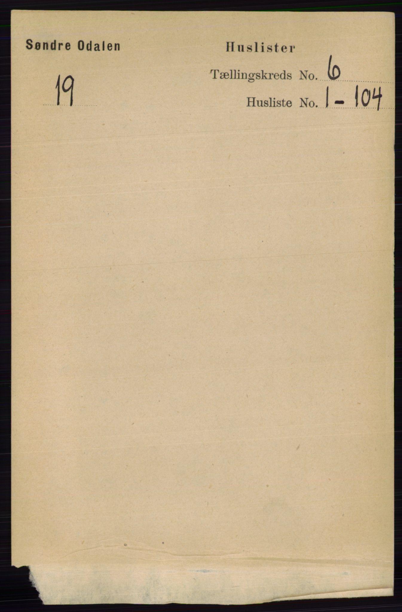 RA, Folketelling 1891 for 0419 Sør-Odal herred, 1891, s. 2686