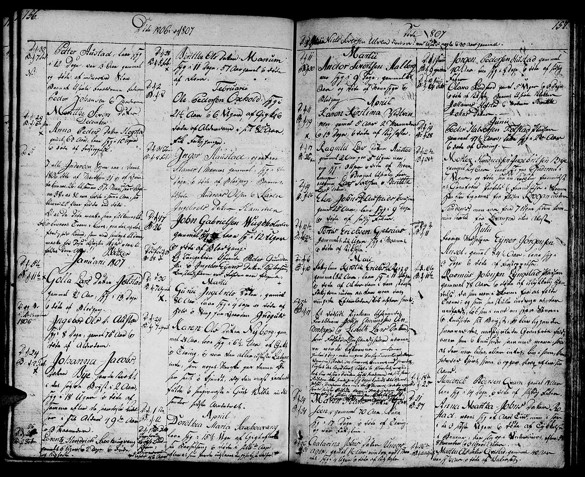 SAT, Ministerialprotokoller, klokkerbøker og fødselsregistre - Nord-Trøndelag, 730/L0274: Ministerialbok nr. 730A03, 1802-1816, s. 156-157