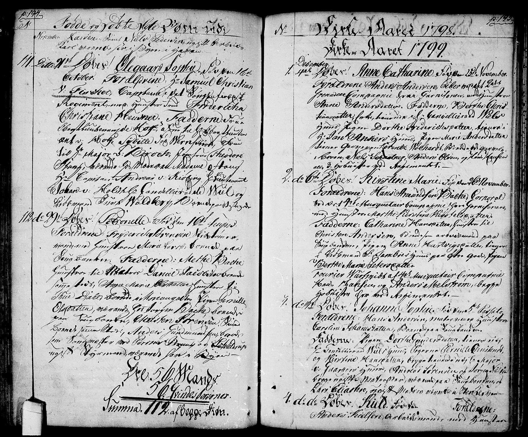 SAO, Halden prestekontor Kirkebøker, F/Fa/L0002: Ministerialbok nr. I 2, 1792-1812, s. 194-195