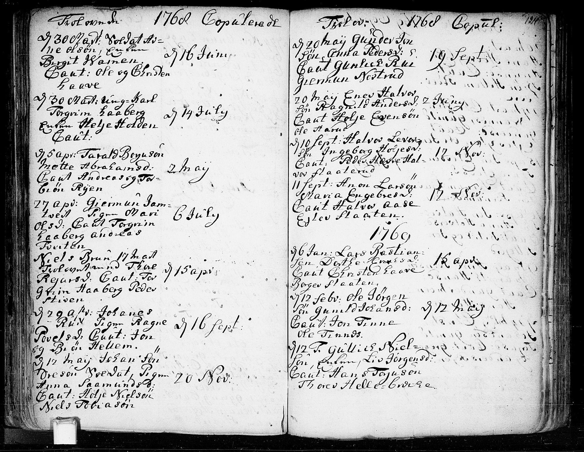 SAKO, Heddal kirkebøker, F/Fa/L0003: Ministerialbok nr. I 3, 1723-1783, s. 124
