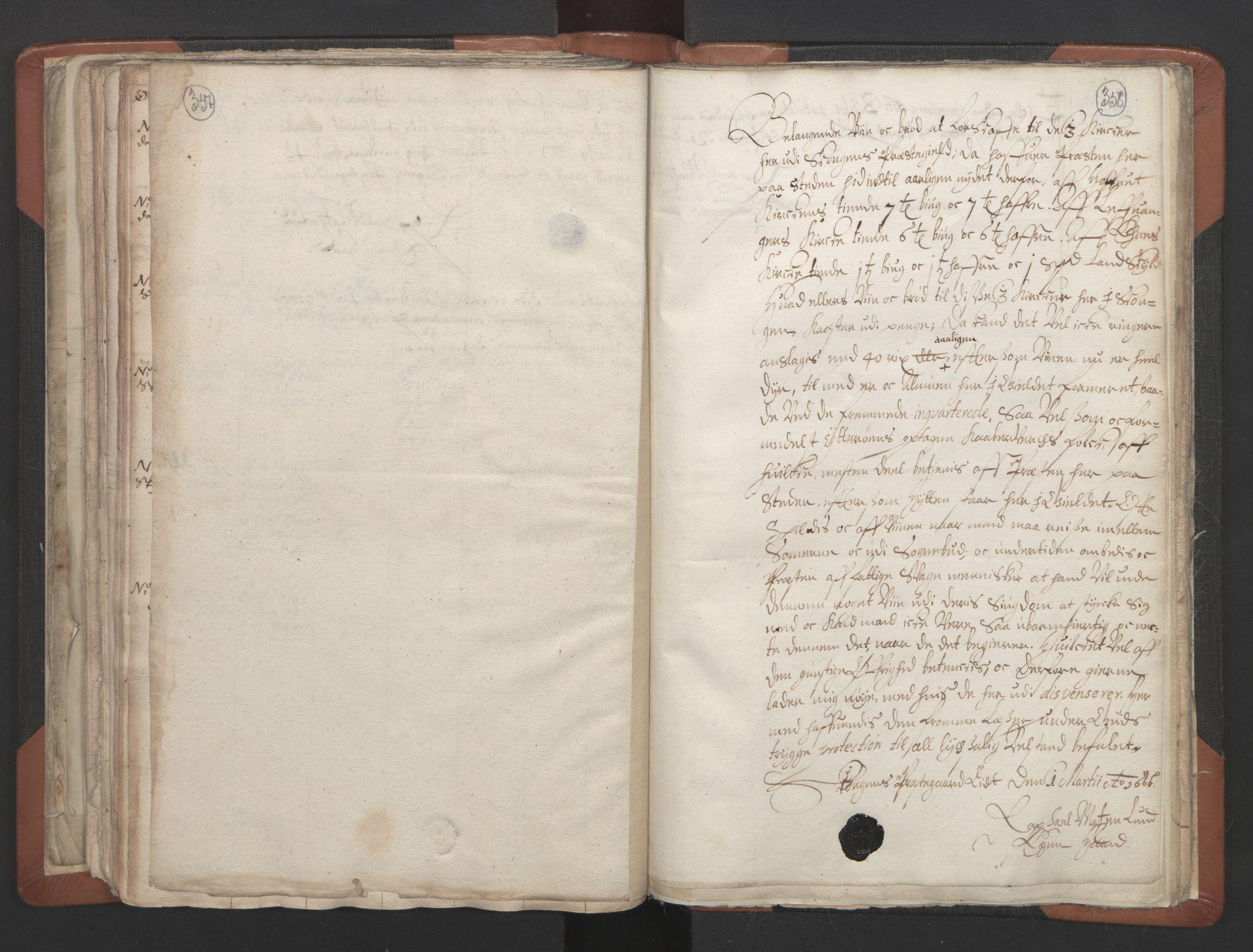 RA, Sogneprestenes manntall 1664-1666, nr. 32: Innherad prosti, 1664-1666, s. 357-358