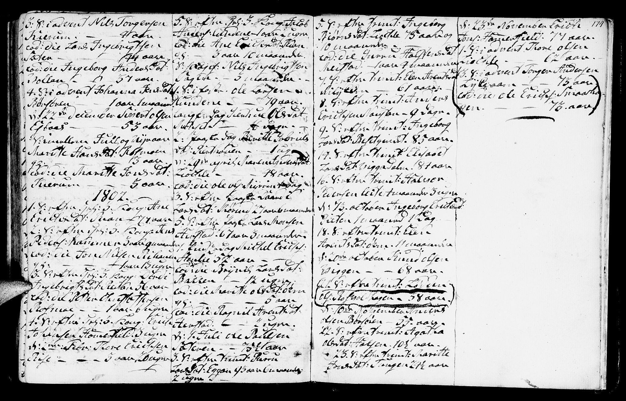 SAT, Ministerialprotokoller, klokkerbøker og fødselsregistre - Sør-Trøndelag, 665/L0768: Ministerialbok nr. 665A03, 1754-1803, s. 174