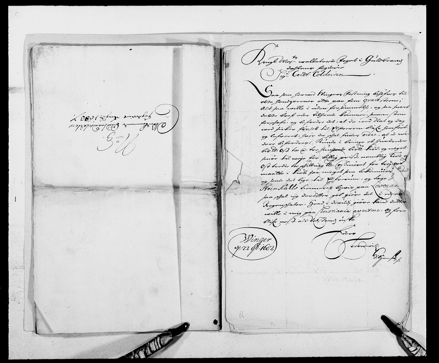 RA, Rentekammeret inntil 1814, Reviderte regnskaper, Fogderegnskap, R17/L1158: Fogderegnskap Gudbrandsdal, 1682-1689, s. 313