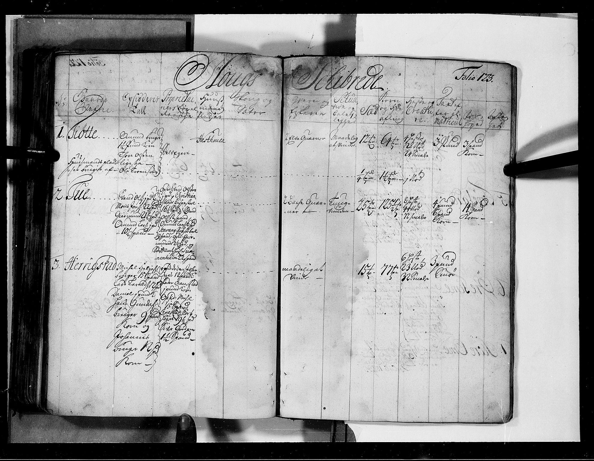 RA, Rentekammeret inntil 1814, Realistisk ordnet avdeling, N/Nb/Nbf/L0131: Jæren og Dalane eksaminasjonsprotokoll, 1723, s. 122b-123a