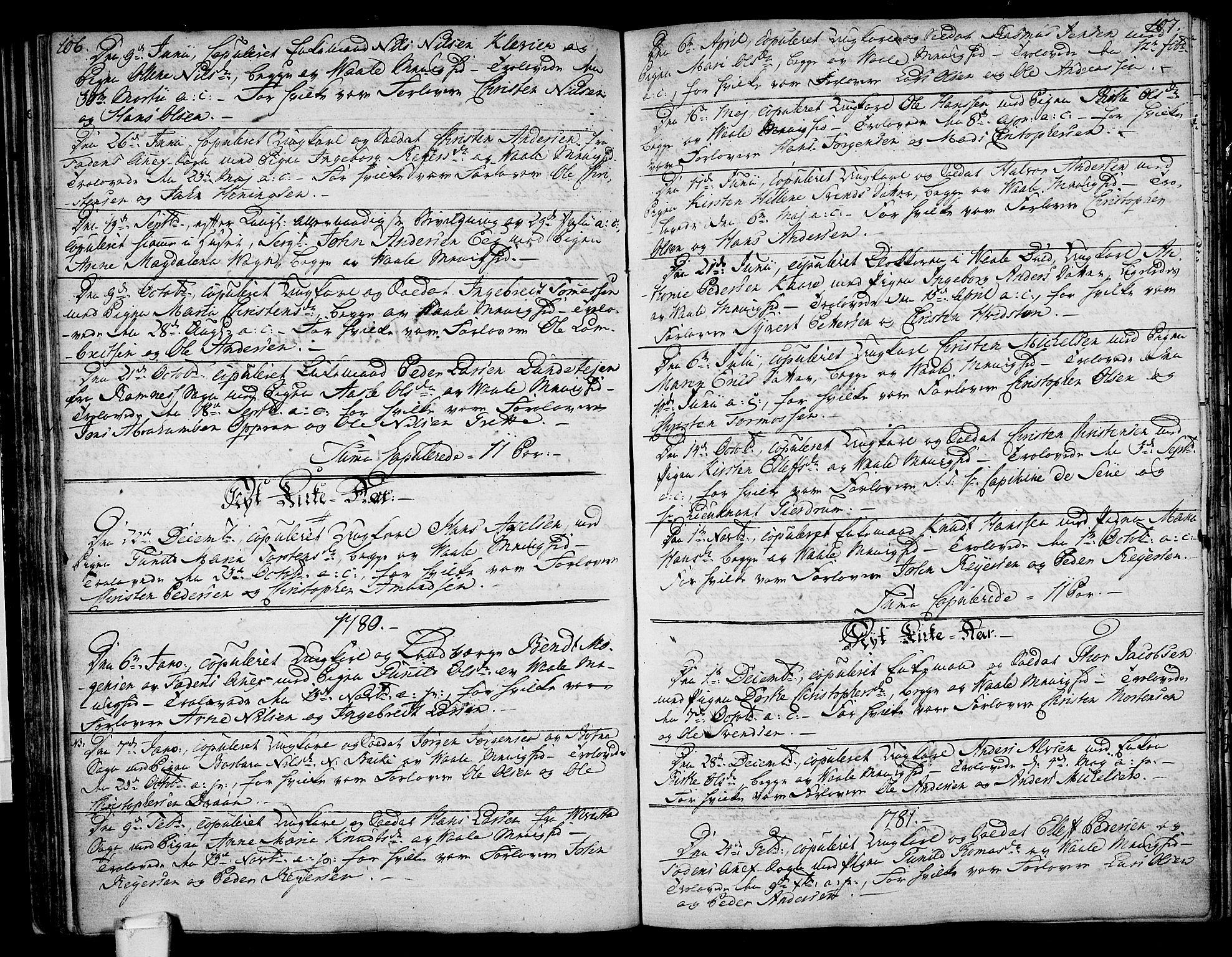 SAKO, Våle kirkebøker, F/Fa/L0005: Ministerialbok nr. I 5, 1773-1808, s. 106-107