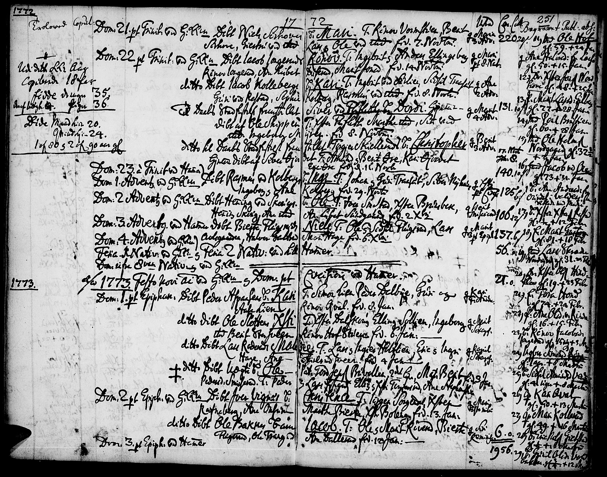 SAH, Fåberg prestekontor, Ministerialbok nr. 1, 1727-1775, s. 251