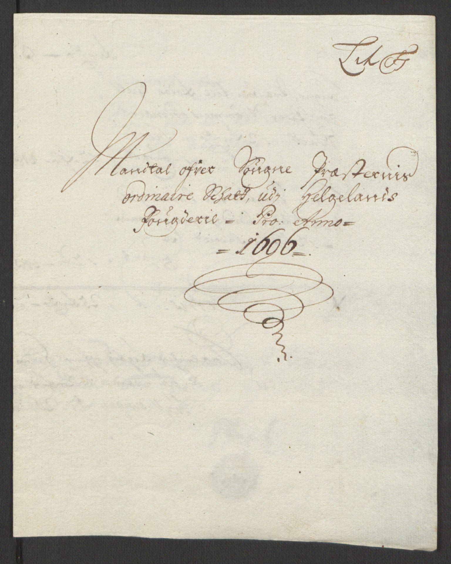 RA, Rentekammeret inntil 1814, Reviderte regnskaper, Fogderegnskap, R65/L4505: Fogderegnskap Helgeland, 1693-1696, s. 509