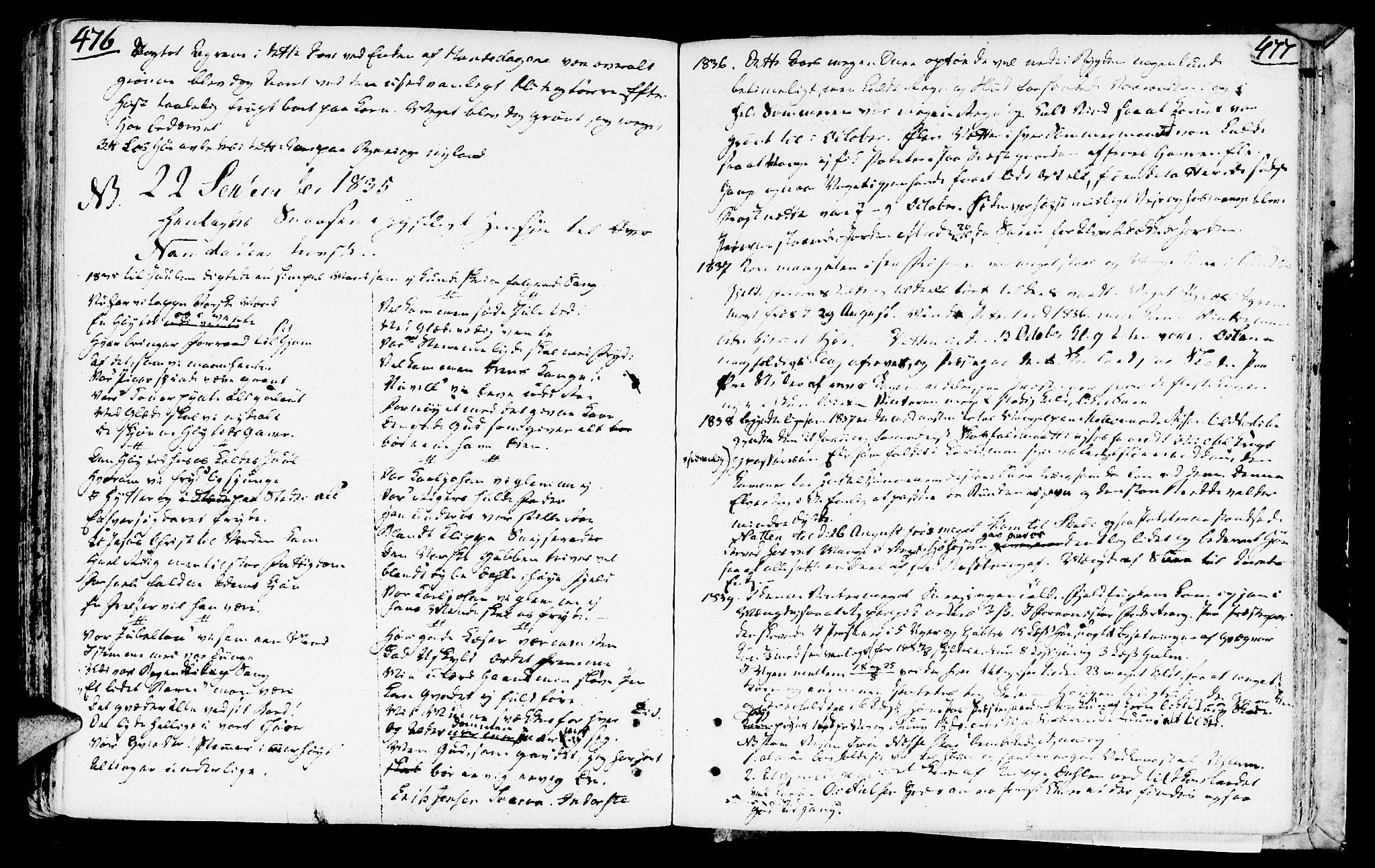 SAT, Ministerialprotokoller, klokkerbøker og fødselsregistre - Nord-Trøndelag, 749/L0468: Ministerialbok nr. 749A02, 1787-1817, s. 476-477