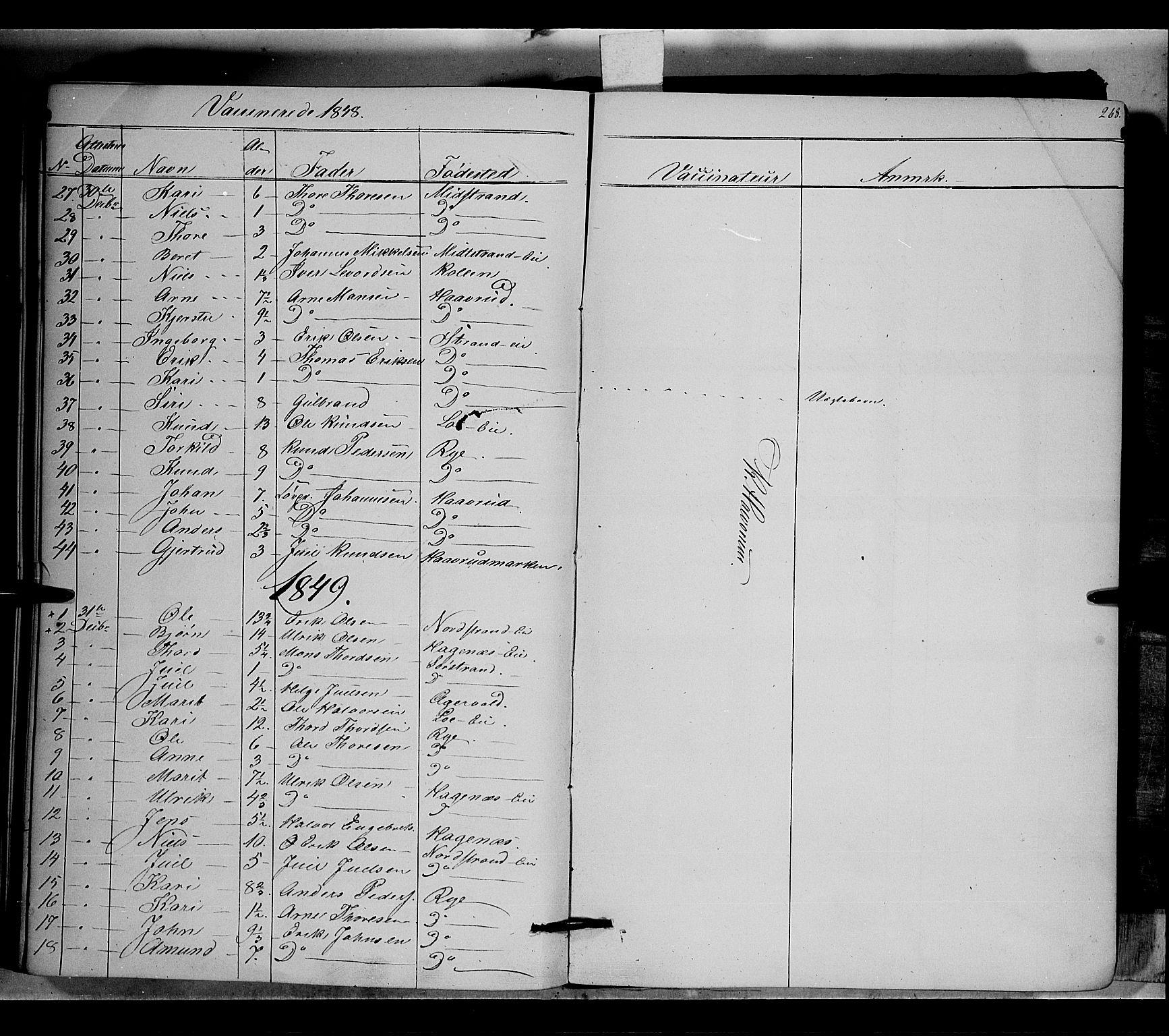 SAH, Nord-Aurdal prestekontor, Ministerialbok nr. 5, 1842-1863, s. 268