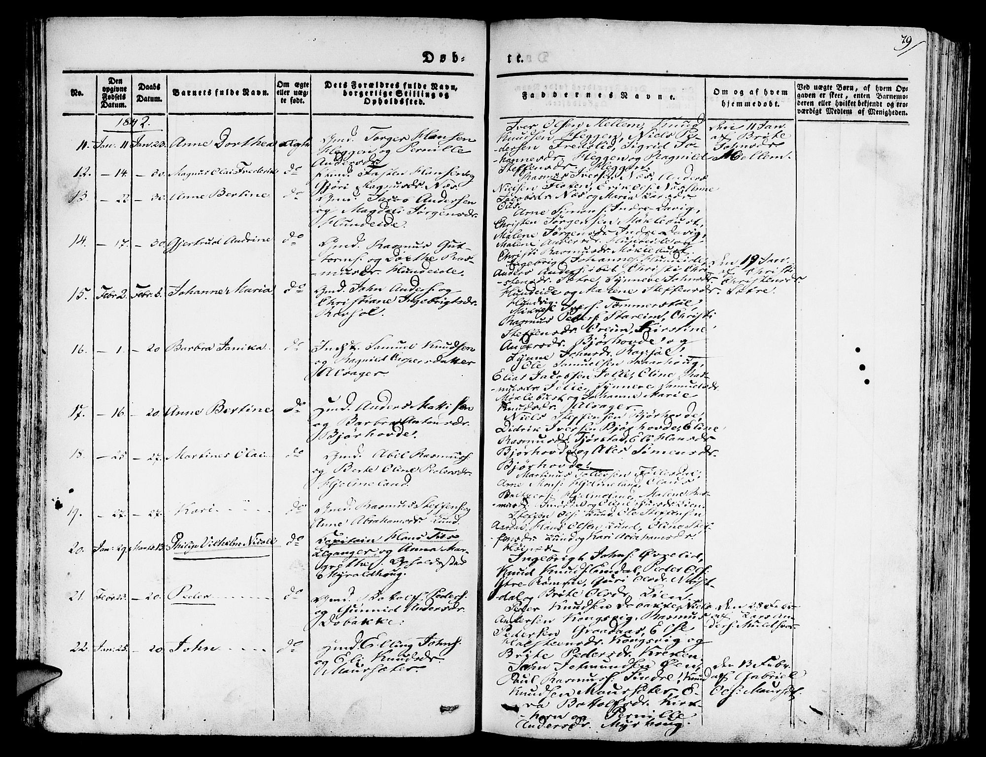 SAB, Eid Sokneprestembete, H/Haa: Ministerialbok nr. A 6, 1831-1843, s. 79