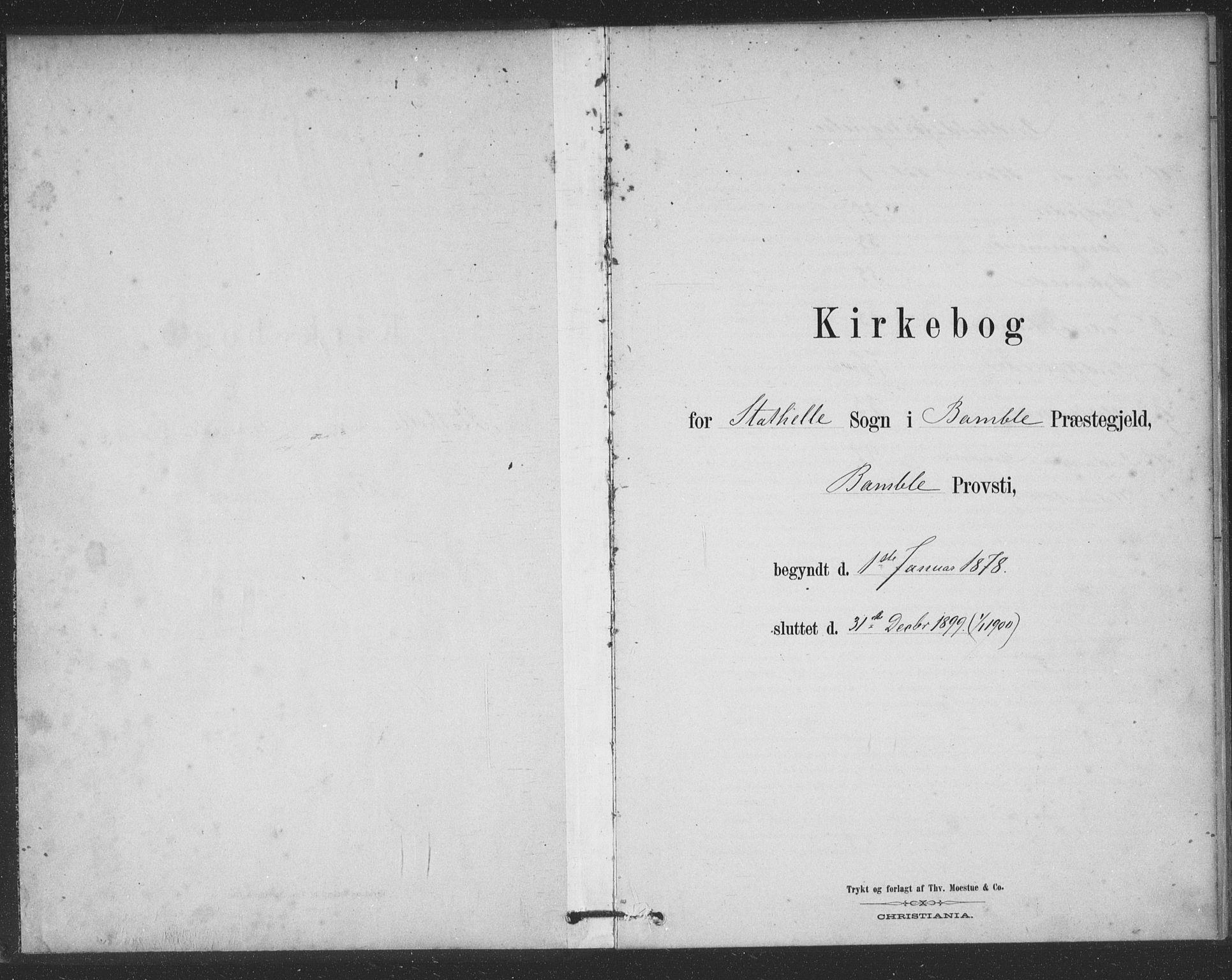 SAKO, Bamble kirkebøker, F/Fb/L0001: Ministerialbok nr. II 1, 1878-1899