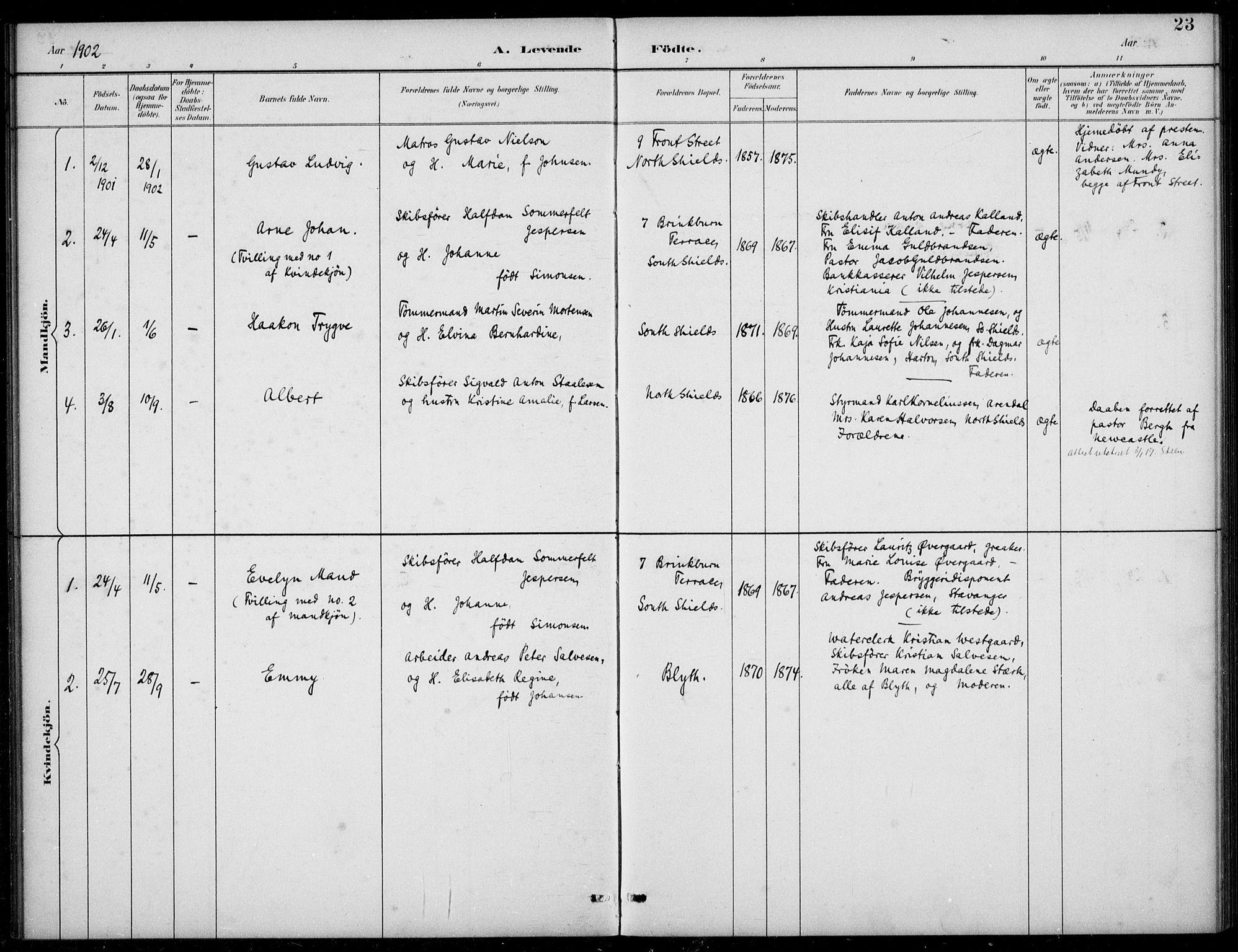 SAB, Den Norske Sjømannsmisjon i utlandet*, Ministerialbok nr. A 2, 1883-1936, s. 23
